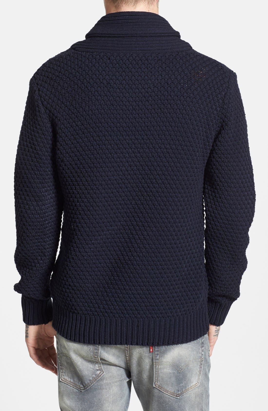 Shawl Collar Sweater,                             Alternate thumbnail 3, color,                             020