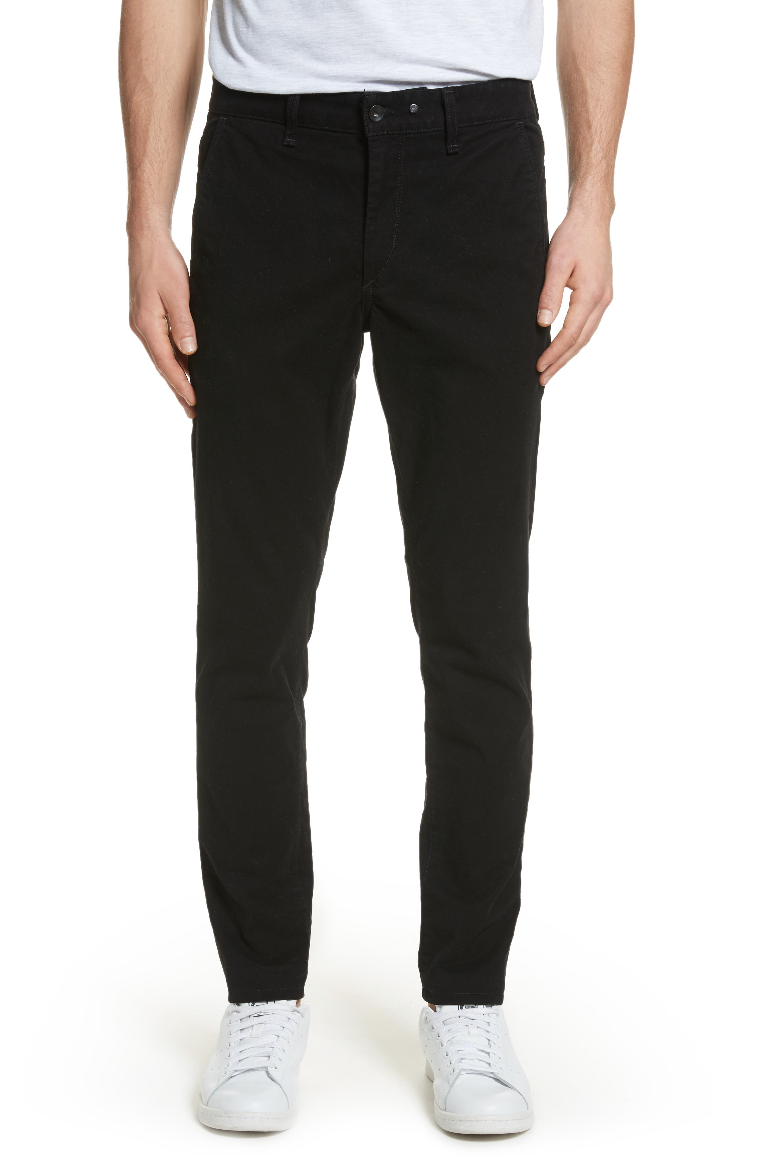Fit 1 Chinos,                         Main,                         color, BLACK