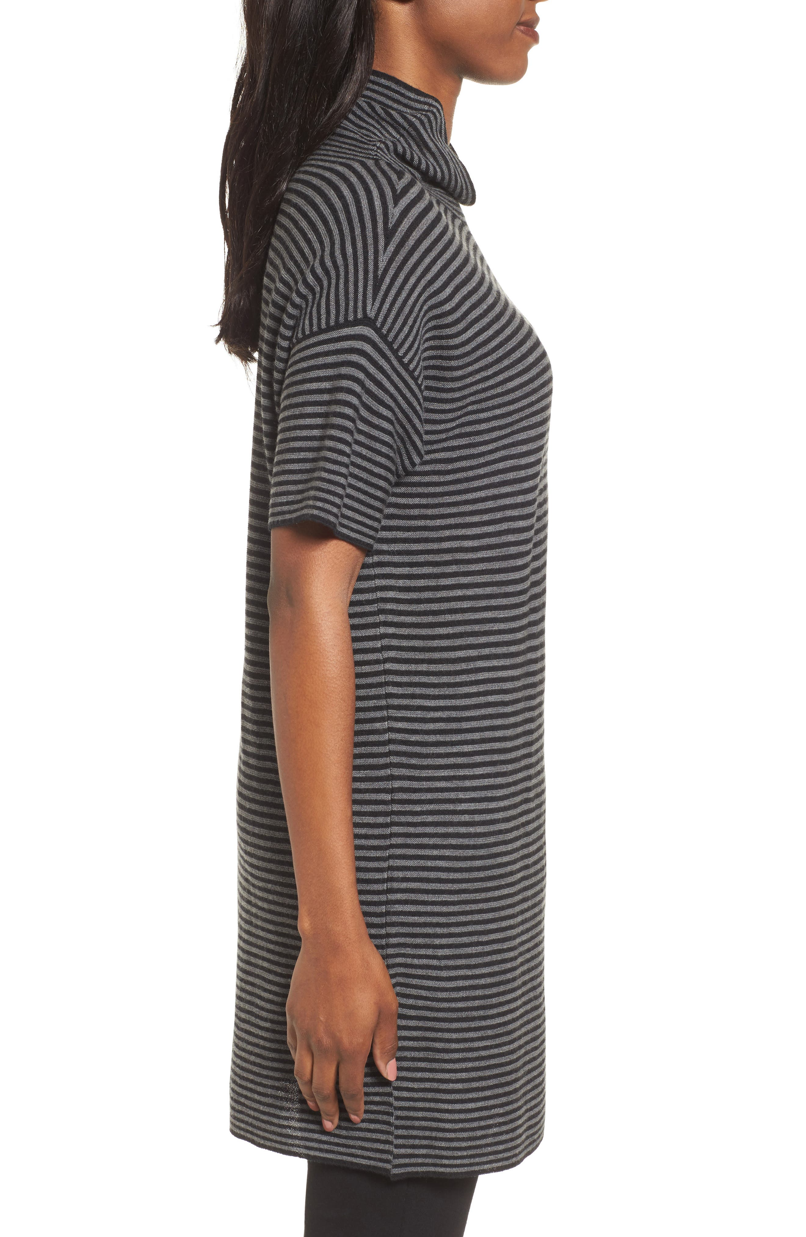 Stripe Merino Wool Tunic,                             Alternate thumbnail 3, color,                             028