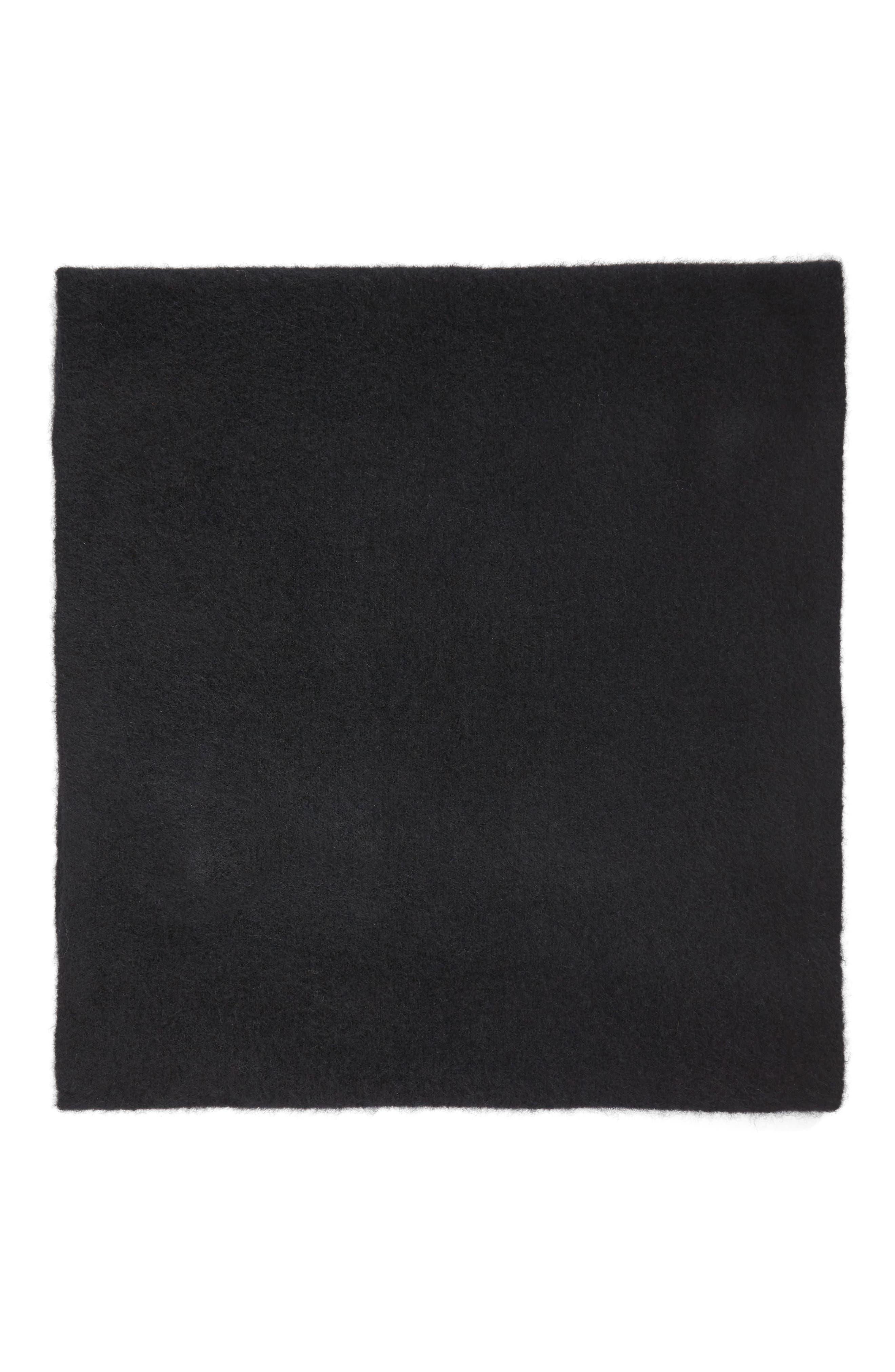 Cashmere Blend Cowl Scarf,                             Alternate thumbnail 3, color,                             001
