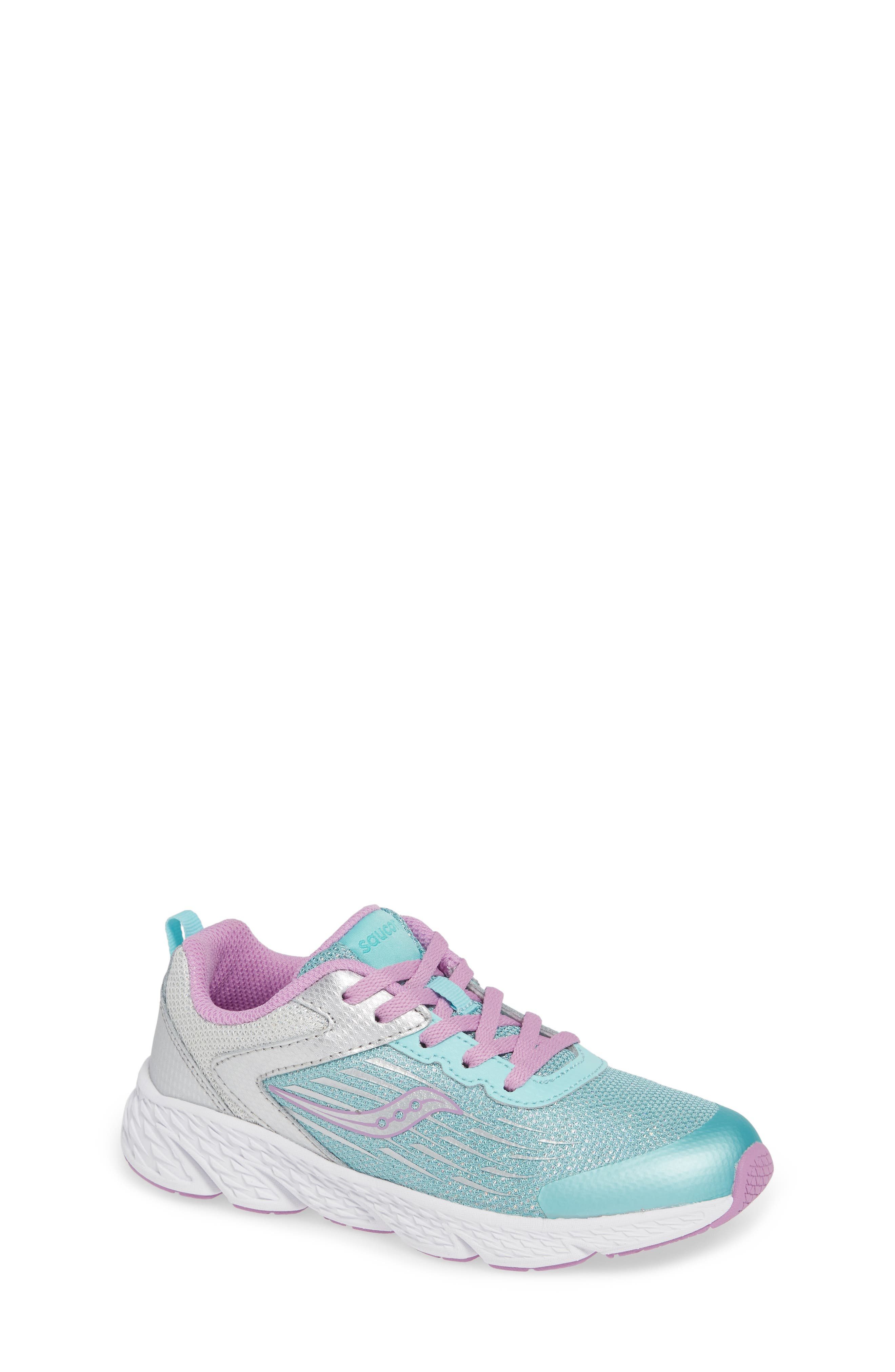 Wind Sneaker, Main, color, TURQUOISE/ SILVER