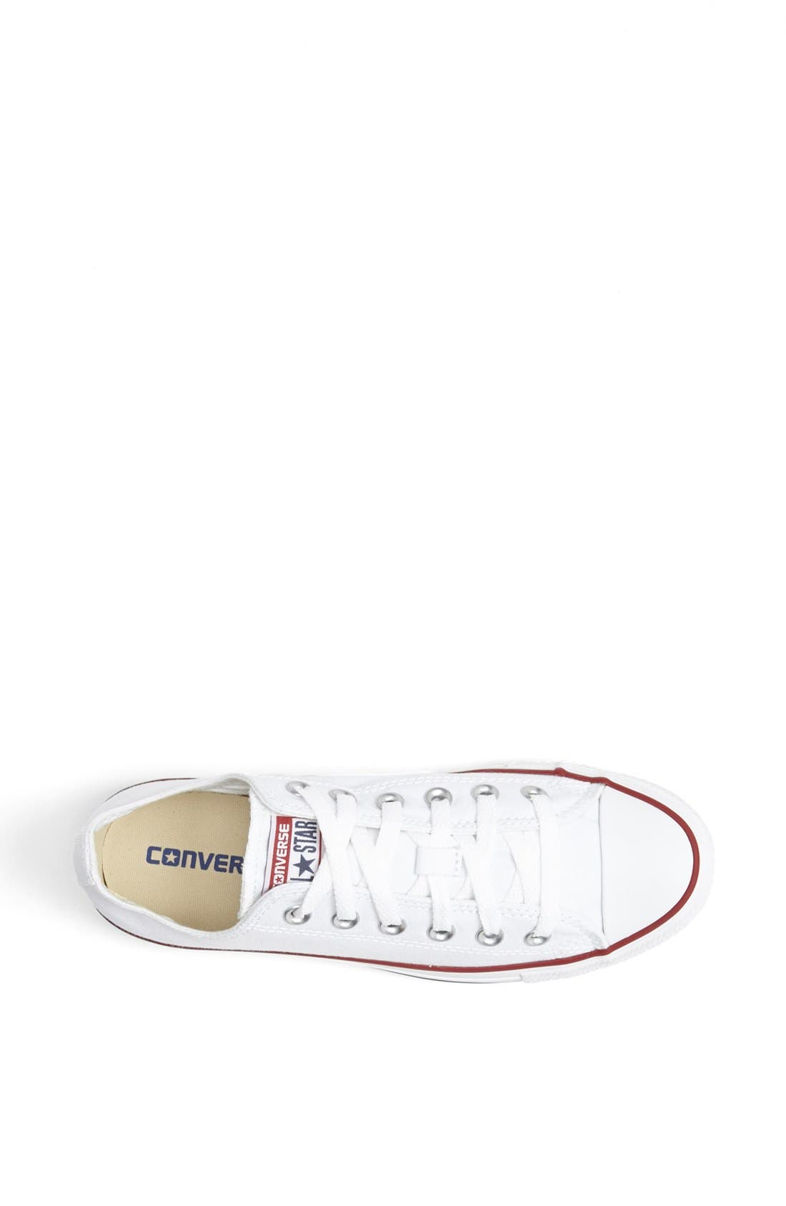 Chuck Taylor<sup>®</sup> Low Top Sneaker,                             Alternate thumbnail 9, color,                             OPTIC WHITE
