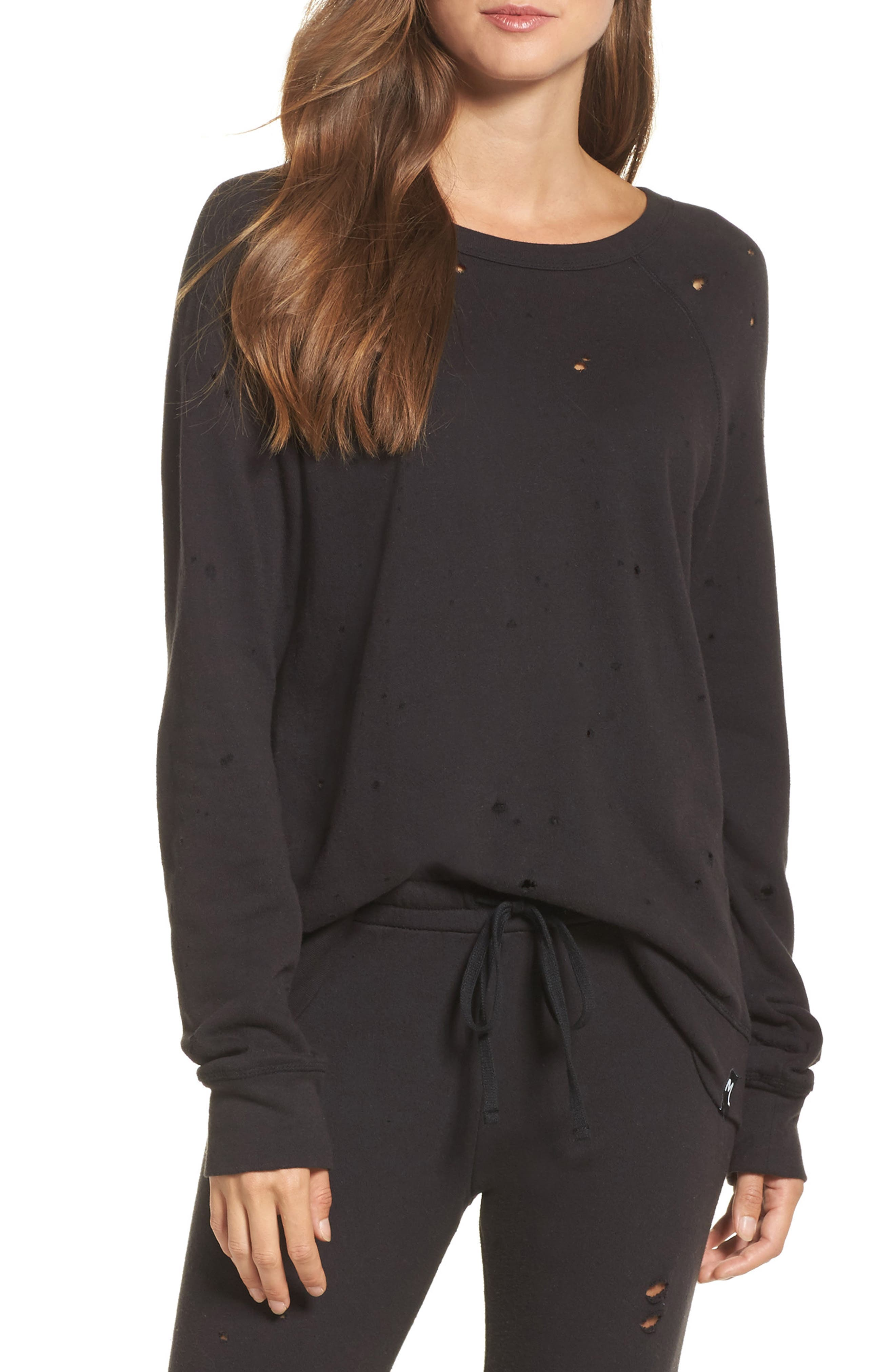 Destroyed Lounge Sweatshirt,                         Main,                         color, 002