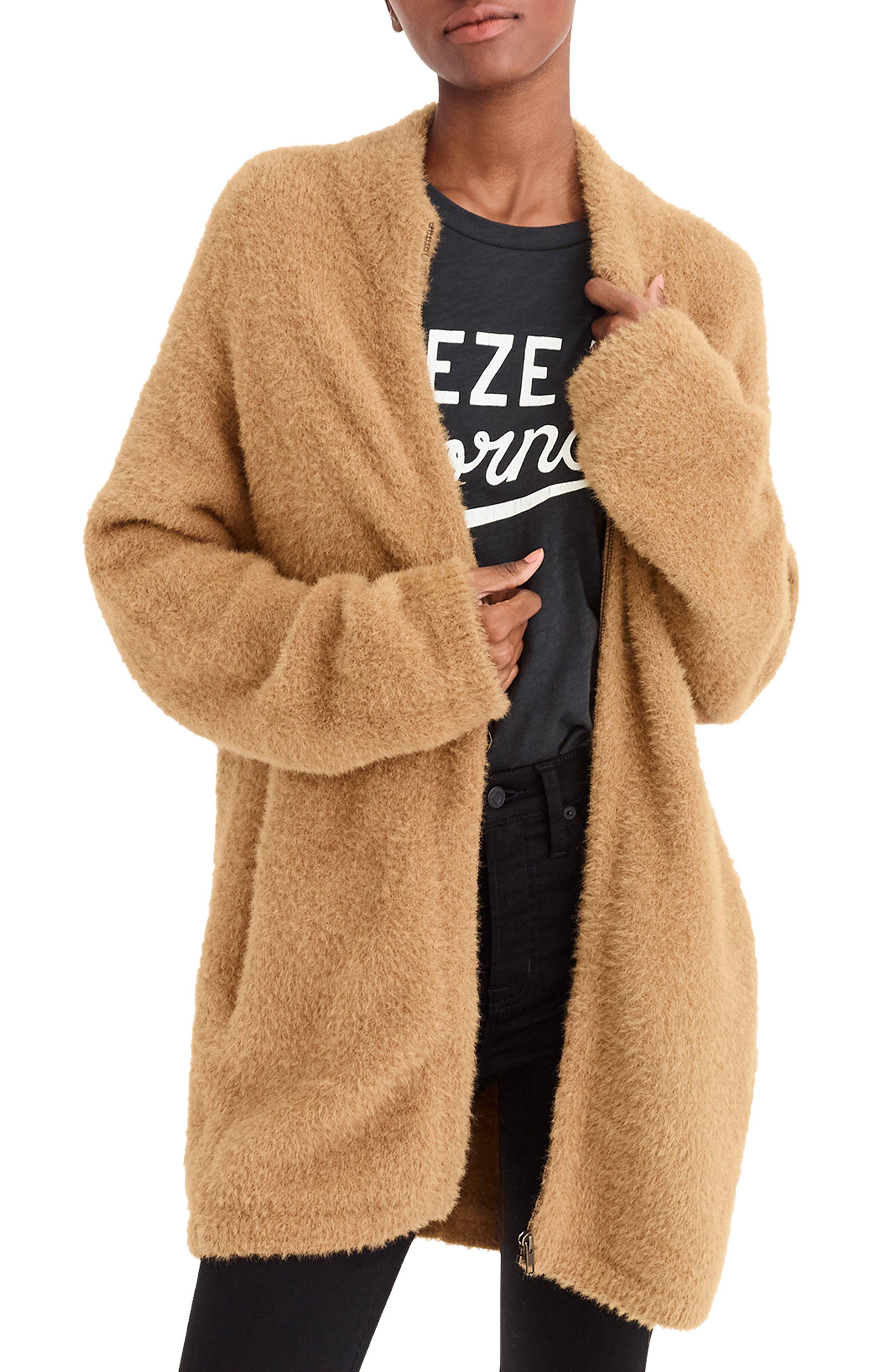 Point Sur Fuzzy Cardigan Jacket, Main, color, 251