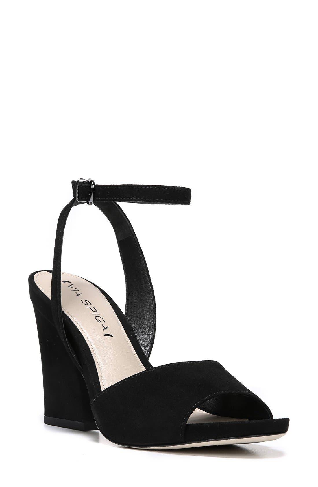'Piper' Ankle Strap Sandal,                         Main,                         color, 003