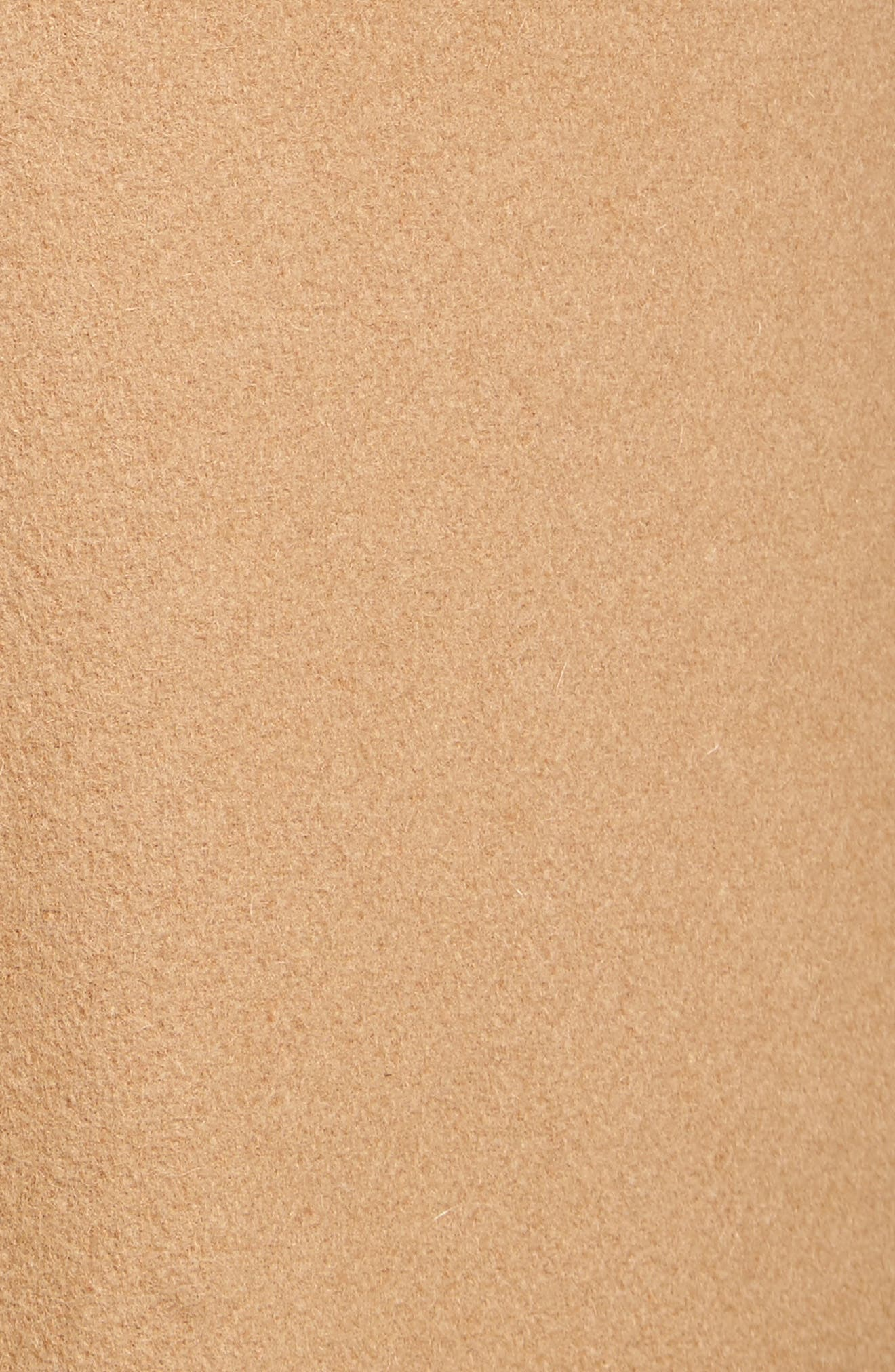 Wool Blend Officer's Coat,                             Alternate thumbnail 5, color,                             CAMEL