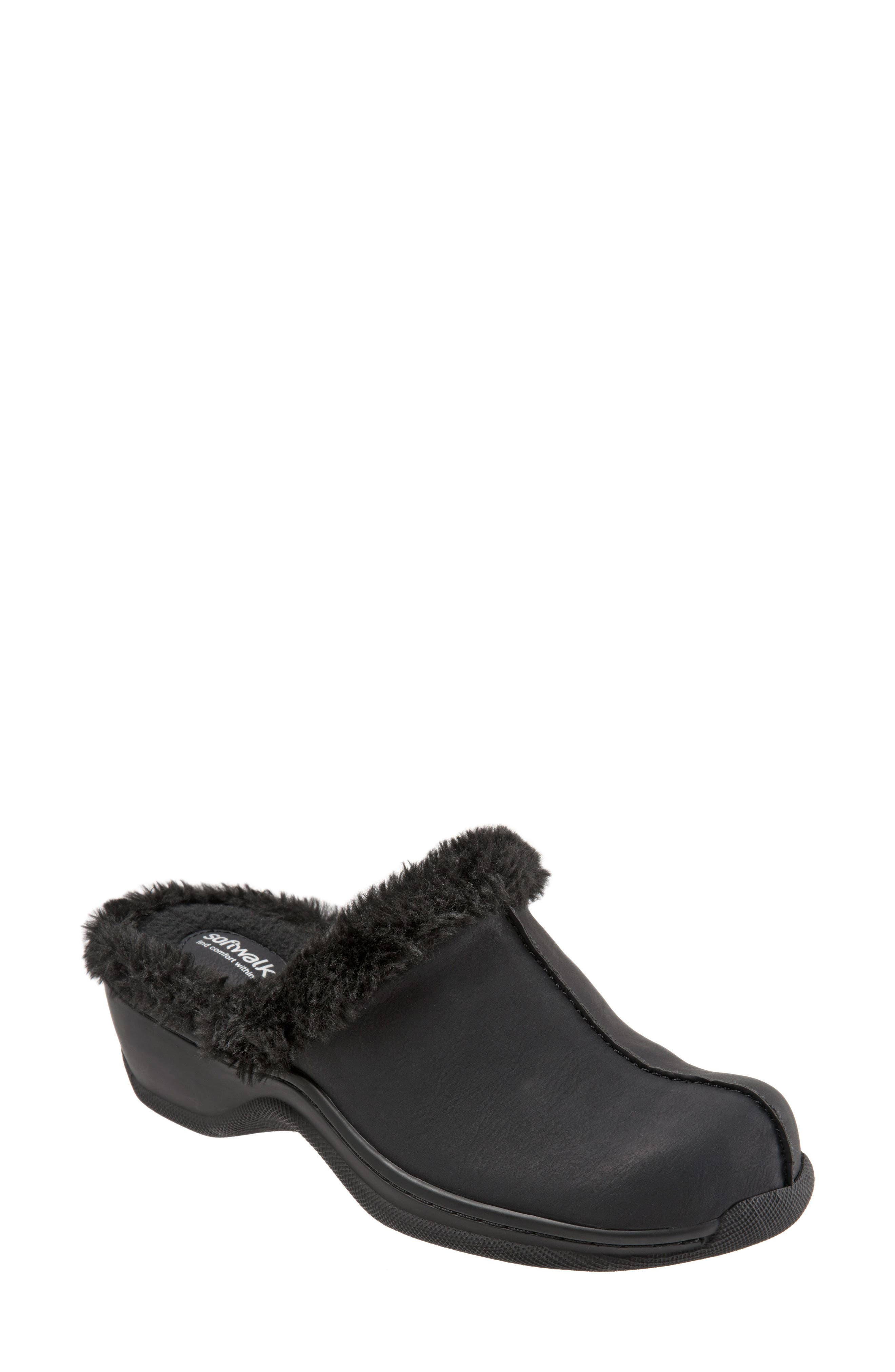 Abigail Clog with Faux Shearling Trim,                         Main,                         color, 004