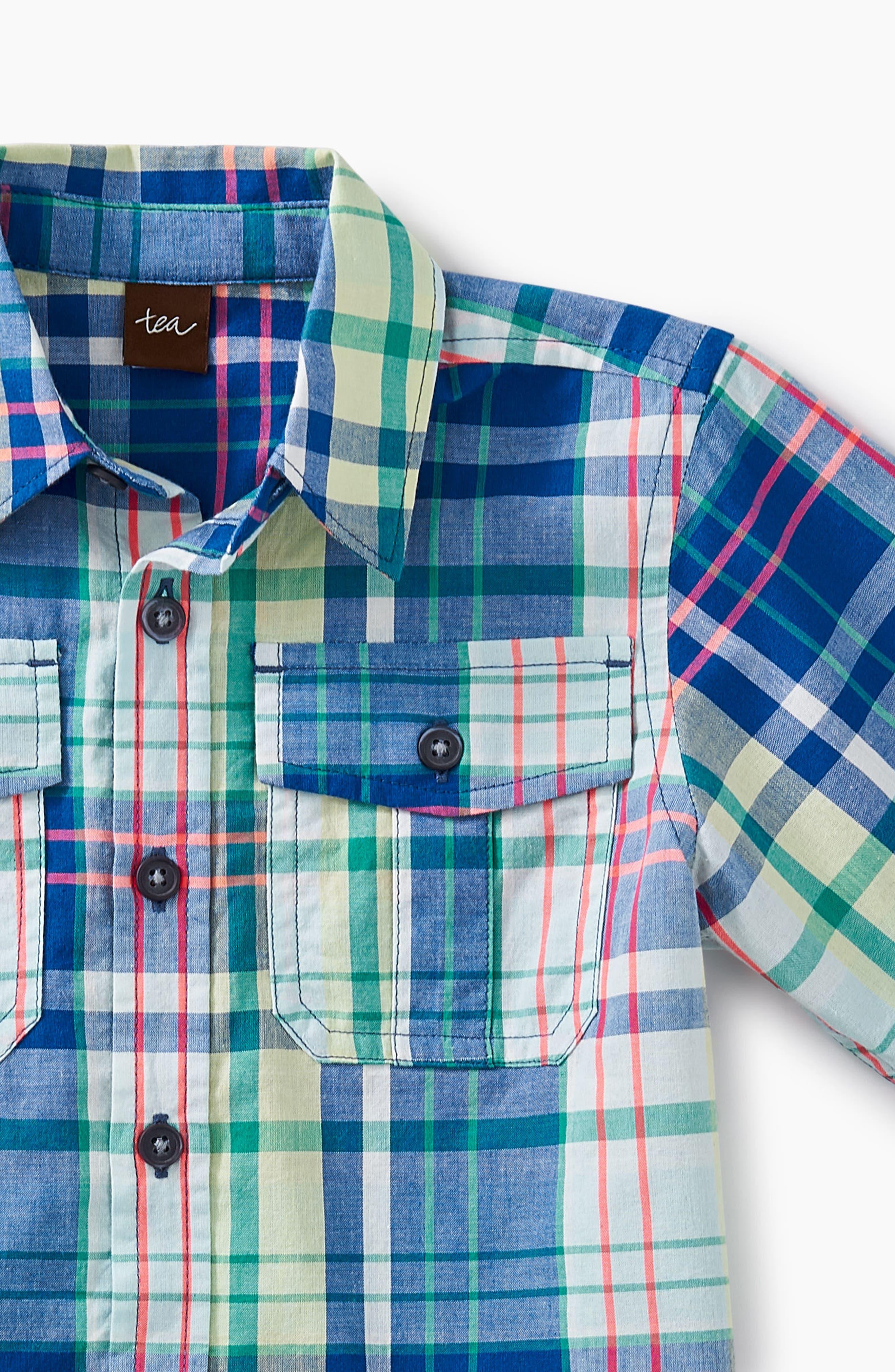 Plaid Woven Shirt,                             Alternate thumbnail 2, color,                             415