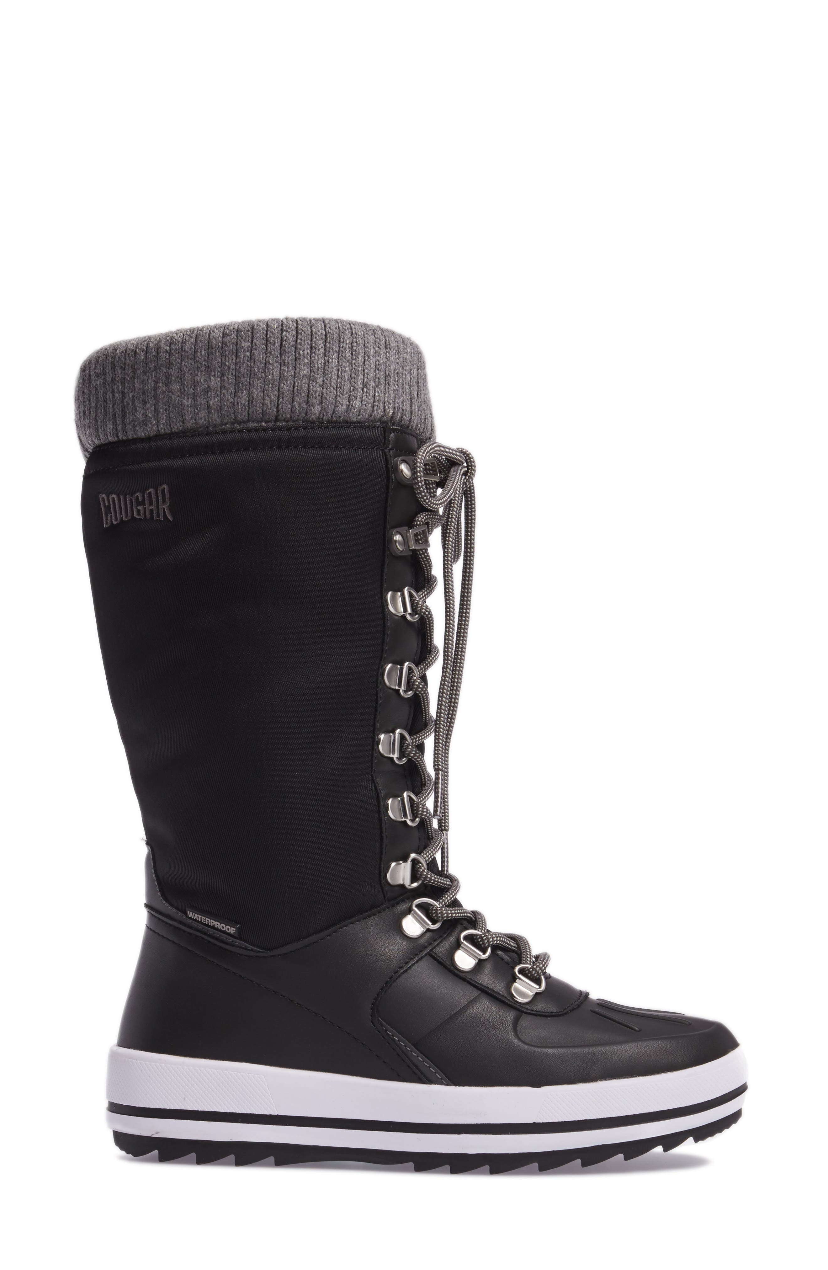 Vancouver Waterproof Winter Boot,                             Alternate thumbnail 3, color,                             BLACK