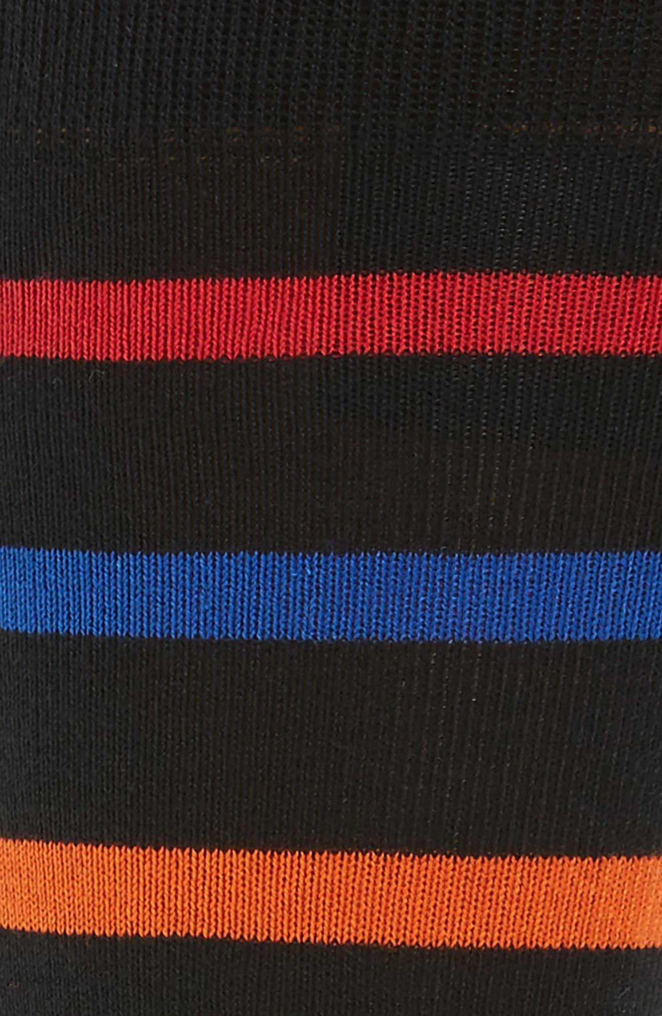 Bright Stripe Socks,                             Alternate thumbnail 2, color,                             001