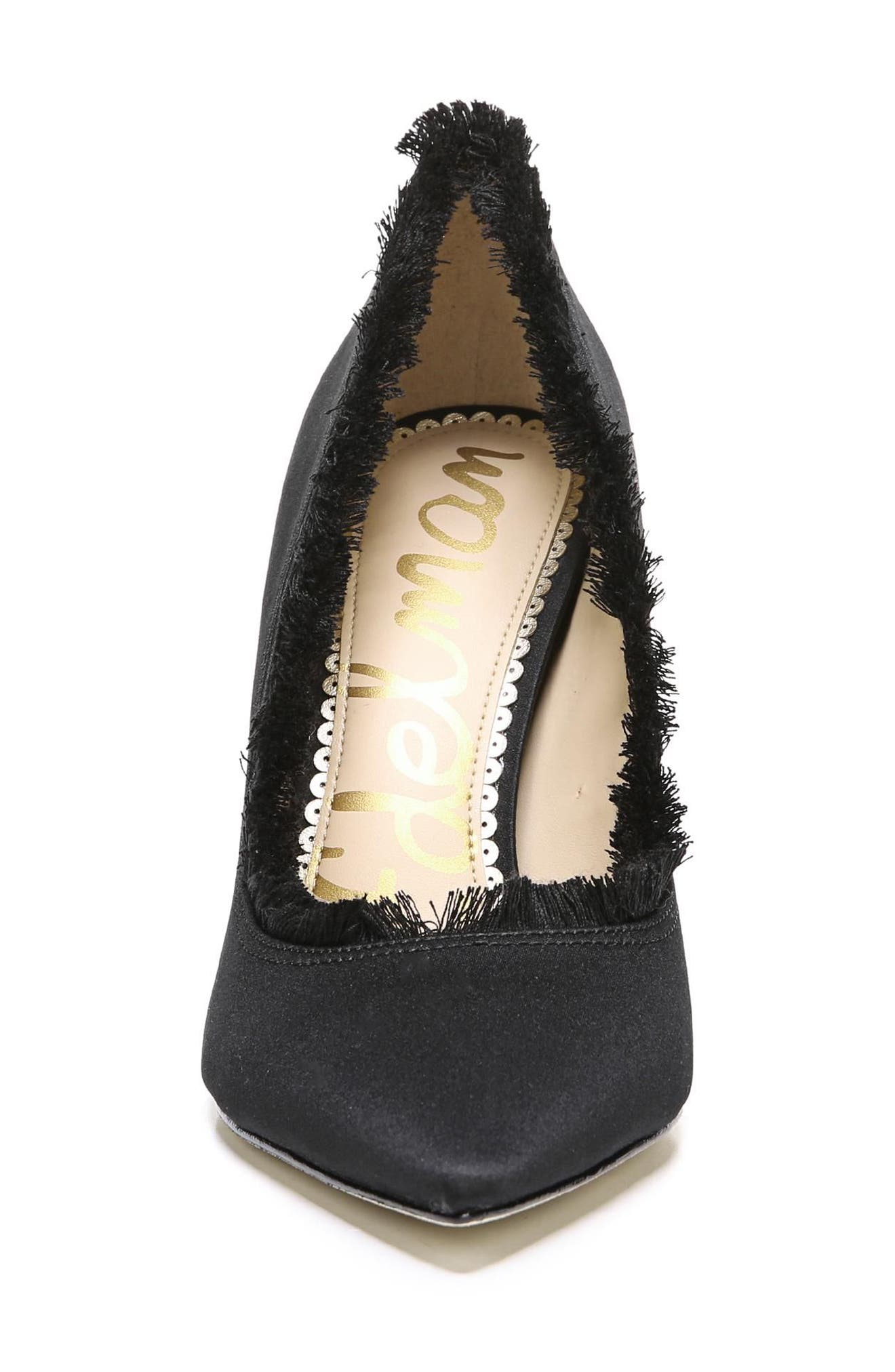 Halan Pointy Toe Pump,                             Alternate thumbnail 4, color,                             001