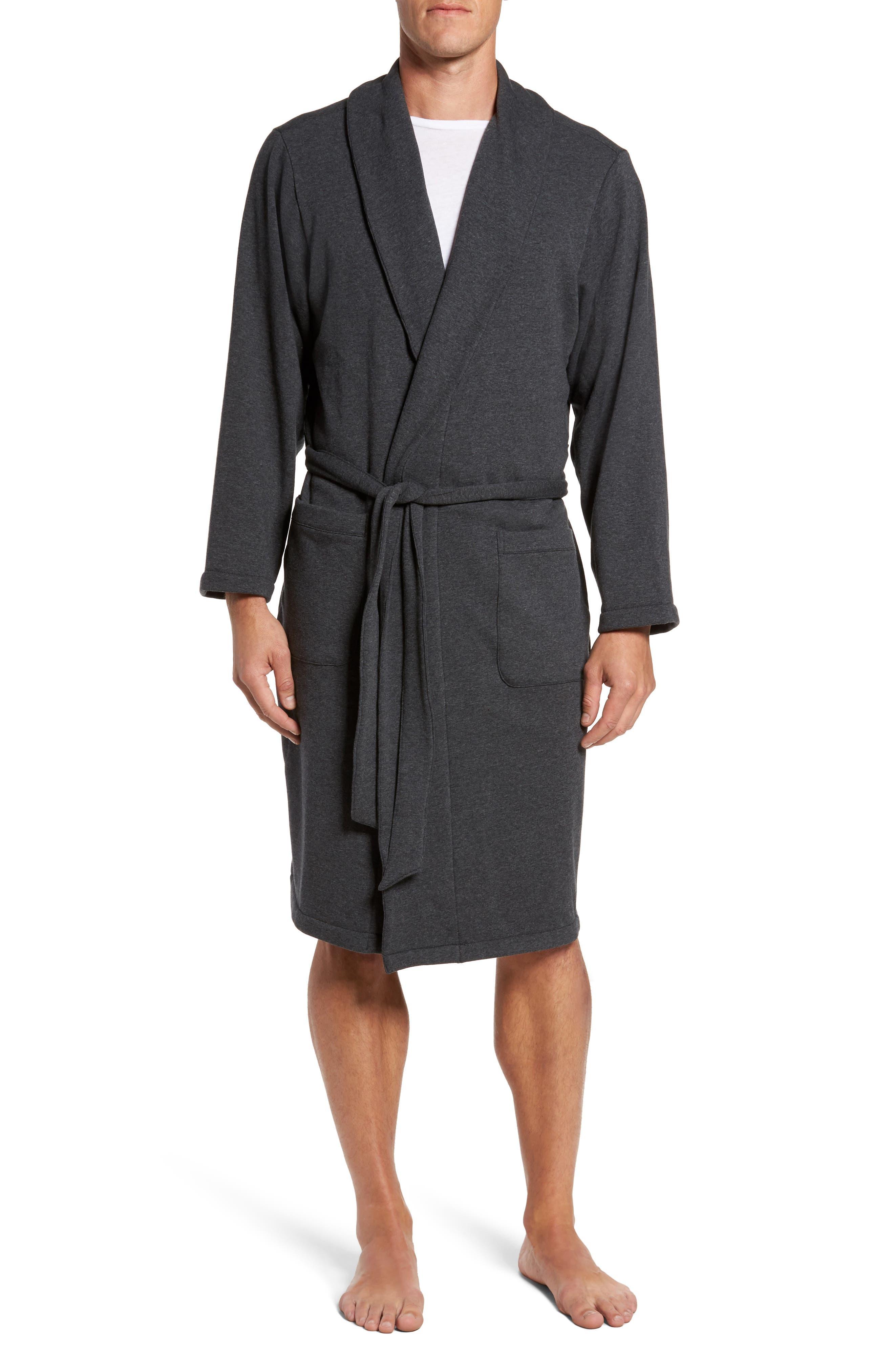 Jersey Fleece Robe,                         Main,                         color, 030