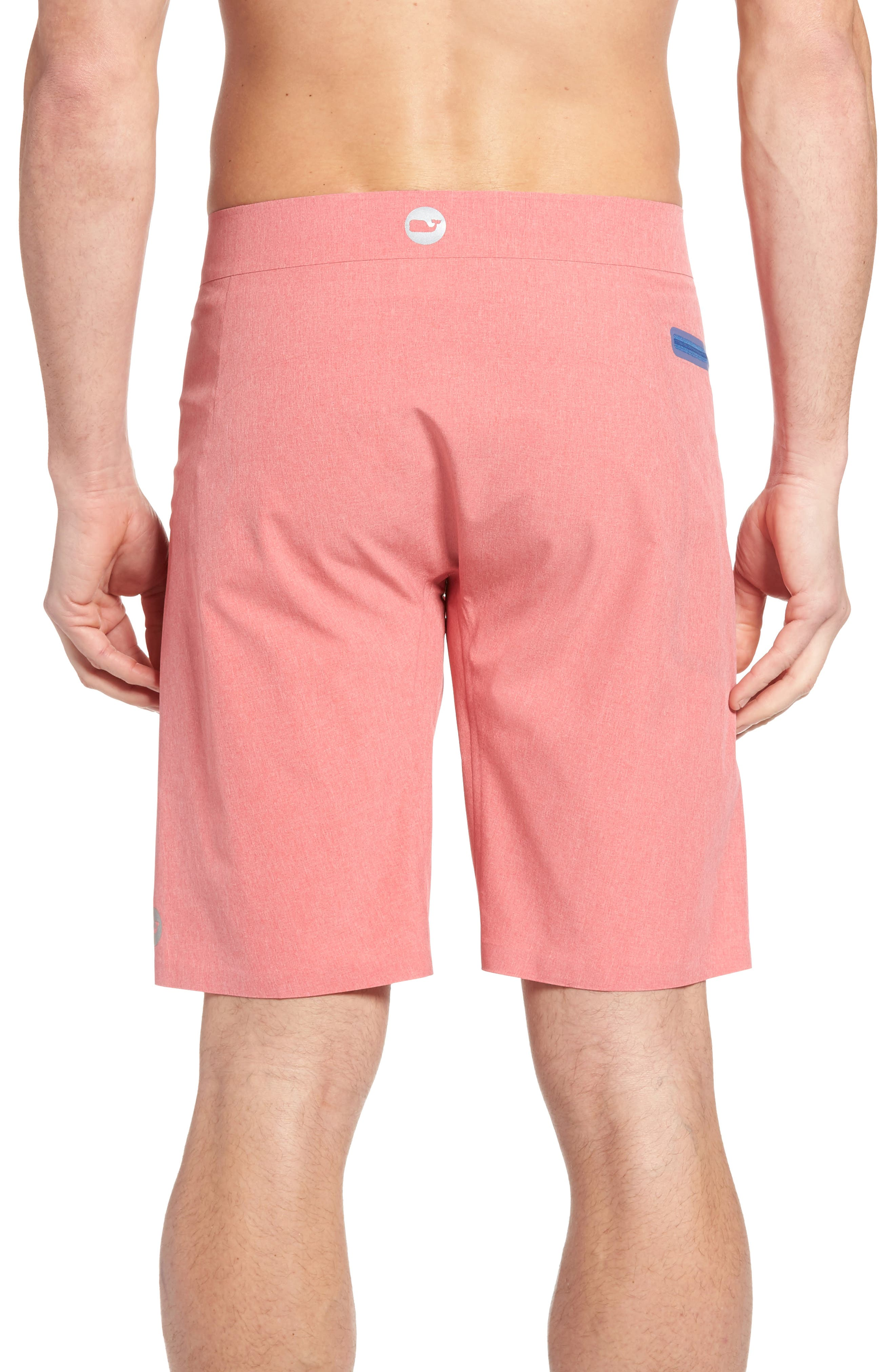 Heather Stretch Board Shorts,                             Alternate thumbnail 8, color,