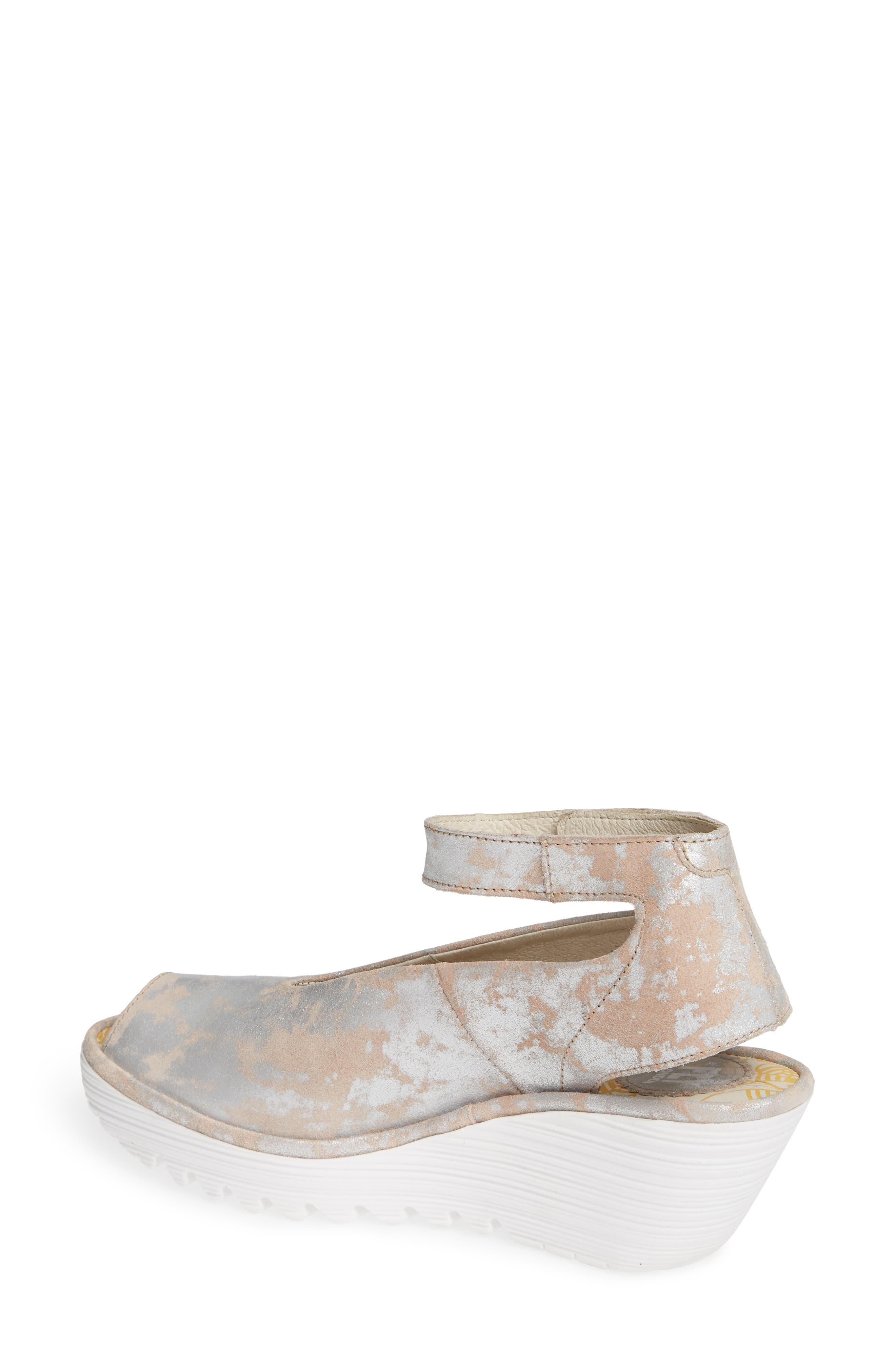 'Yala' Sandal,                             Alternate thumbnail 2, color,                             ROSE LEATHER