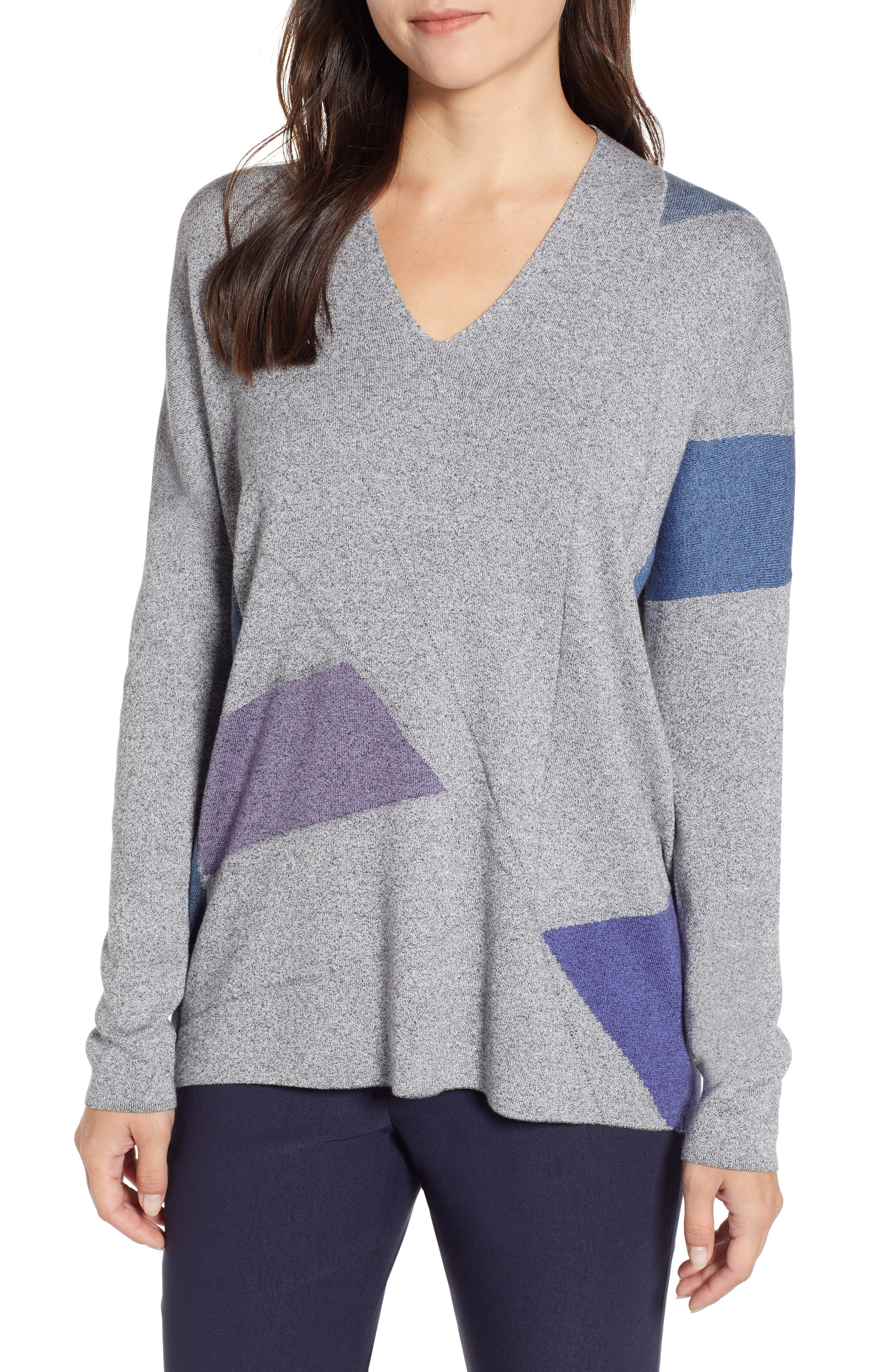 Colorblock Sweater,                             Main thumbnail 1, color,                             MULTI