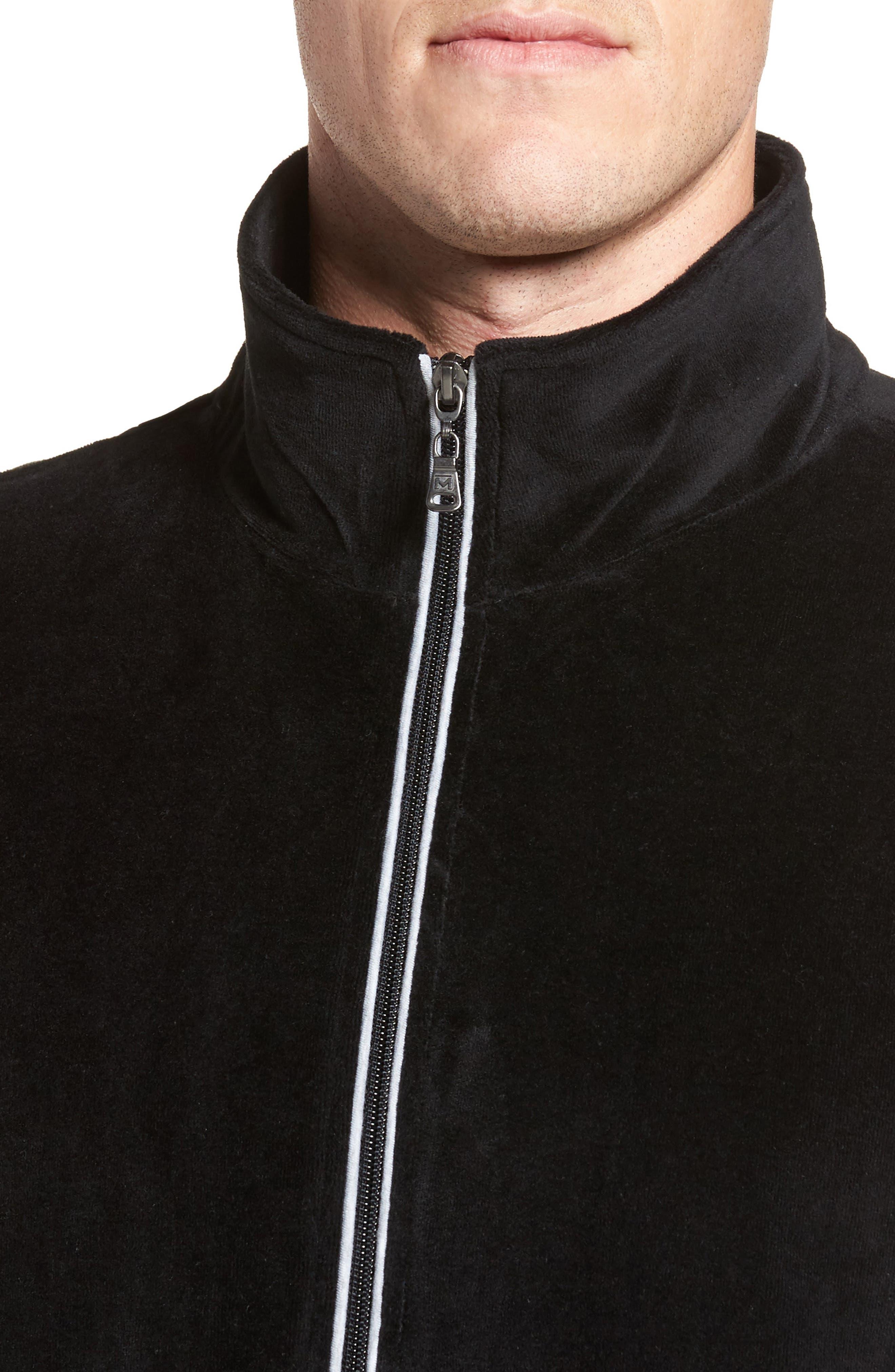 Strathcona Velour Warm-Up Suit,                             Alternate thumbnail 4, color,                             001