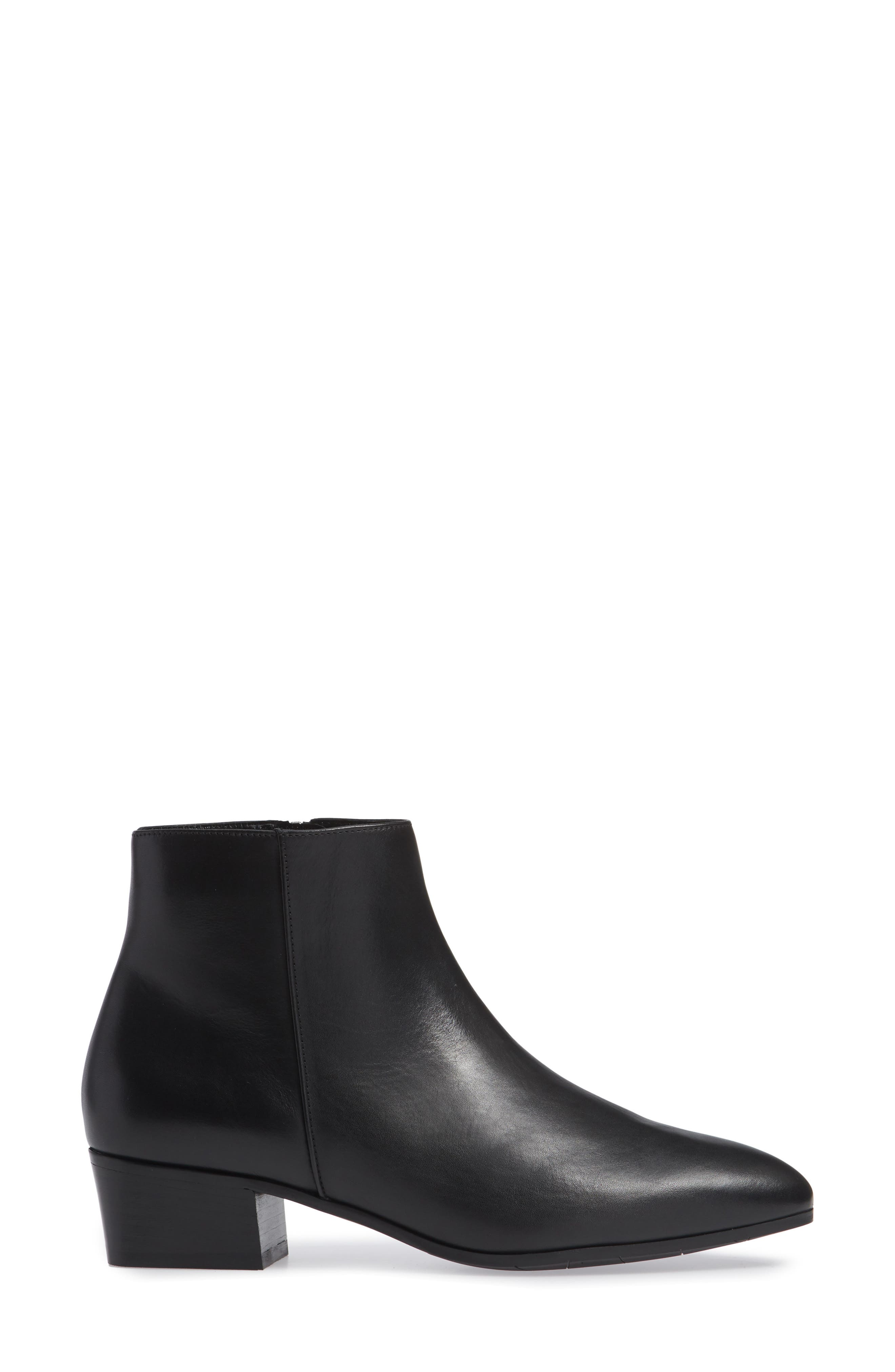 Fuoco Weatherproof Bootie,                             Alternate thumbnail 3, color,                             BLACK LEATHER