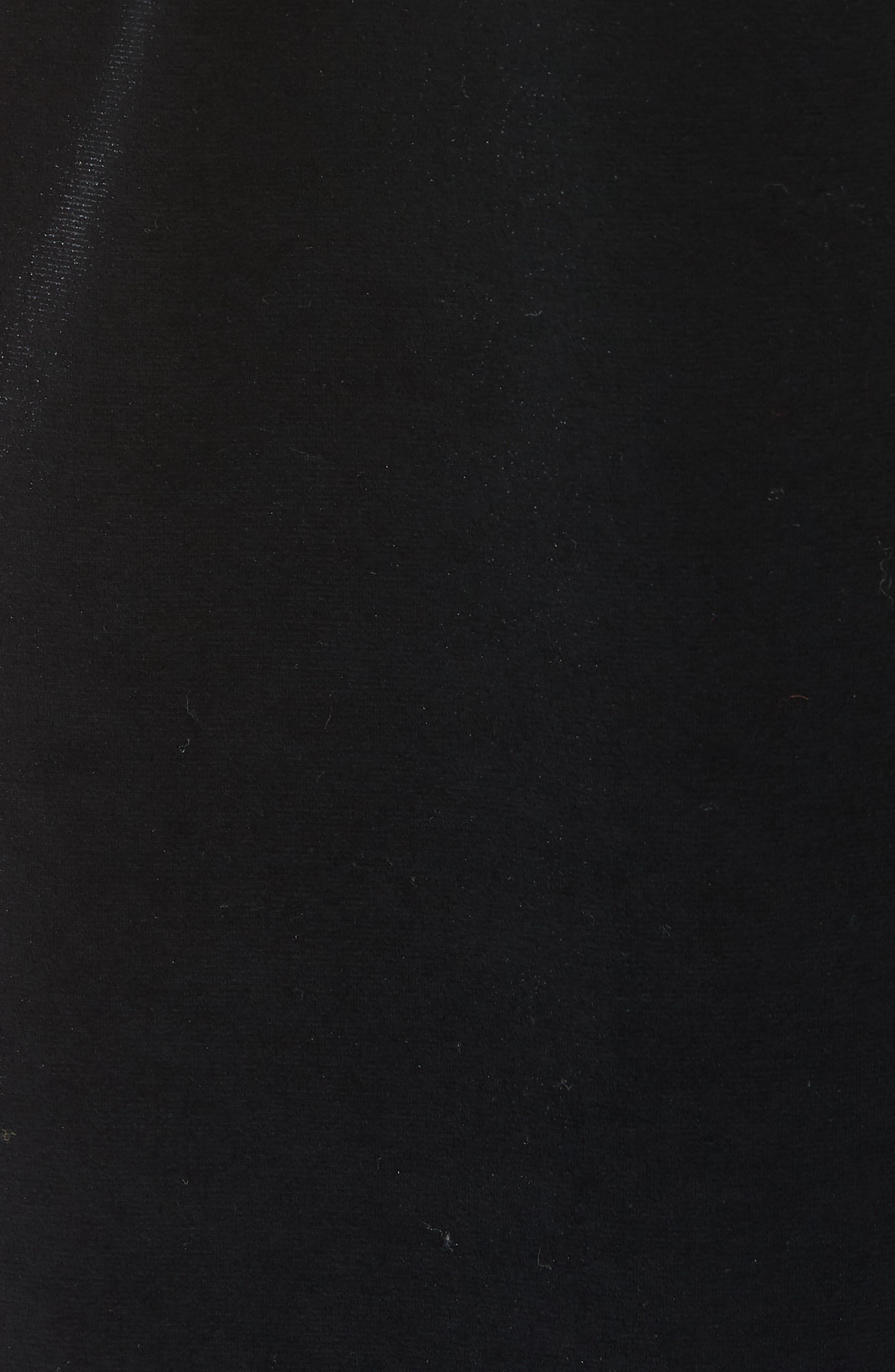 Luna Stretch Velvet Jumpsuit,                             Alternate thumbnail 6, color,                             001