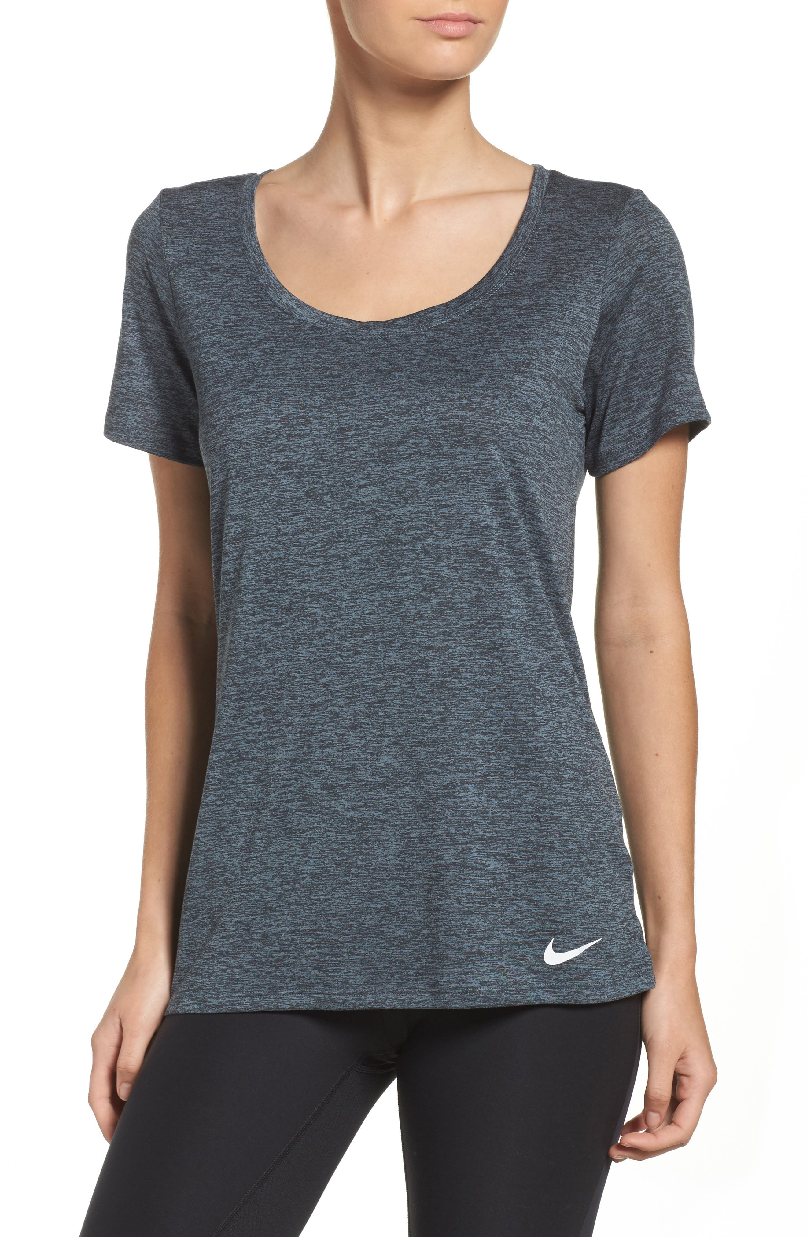 Dry Training Tee,                         Main,                         color, BLACK/ COOL GREY/ WHITE