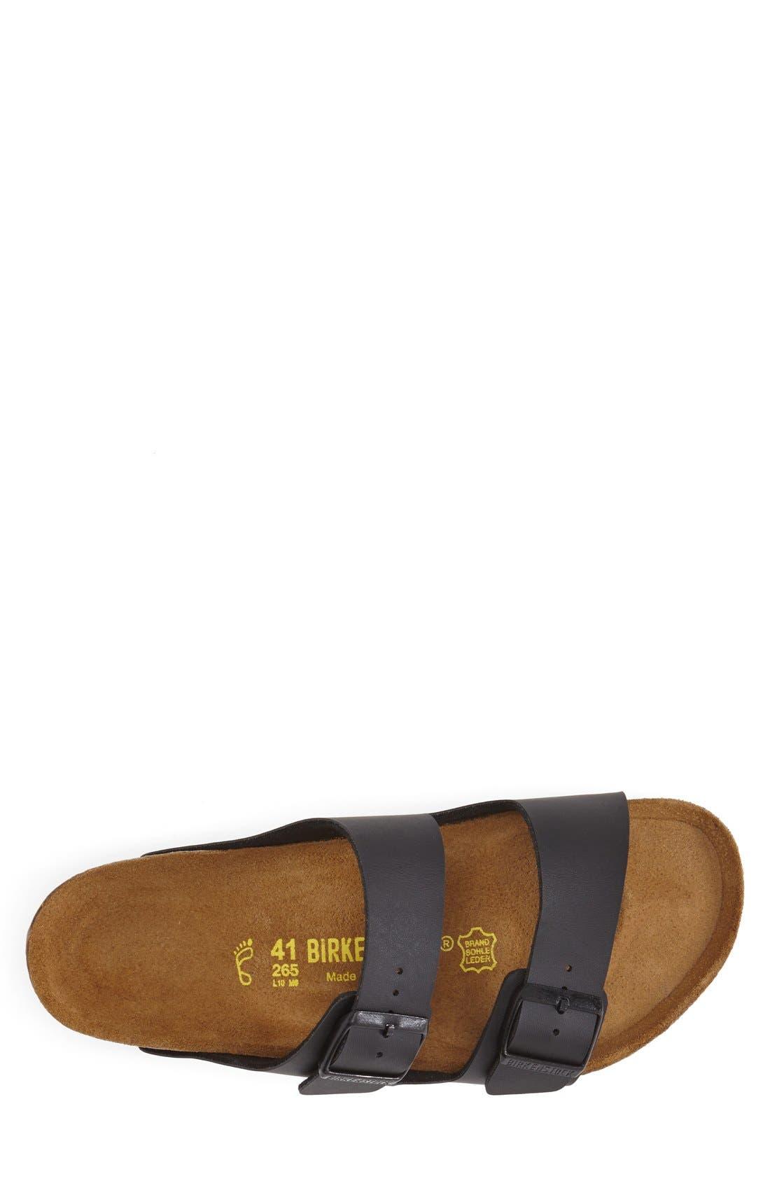 BIRKENSTOCK,                             'Arizona' Slide Sandal,                             Alternate thumbnail 4, color,                             BLACK