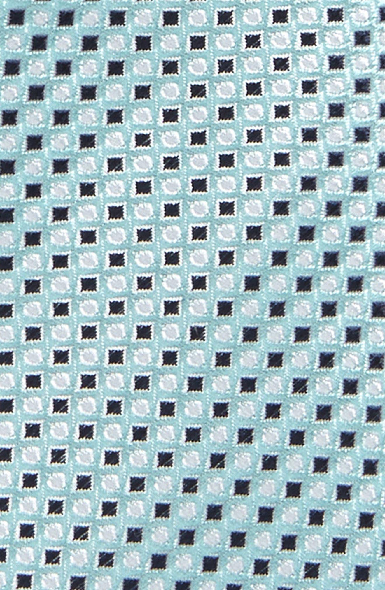 Diamonds & Dots Print Silk Tie,                             Alternate thumbnail 5, color,
