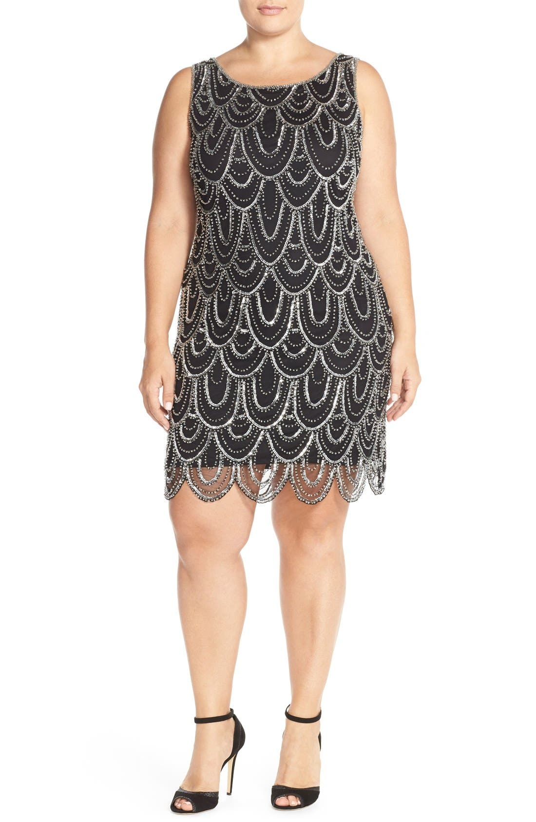 Beaded Sheath Dress,                             Alternate thumbnail 50, color,