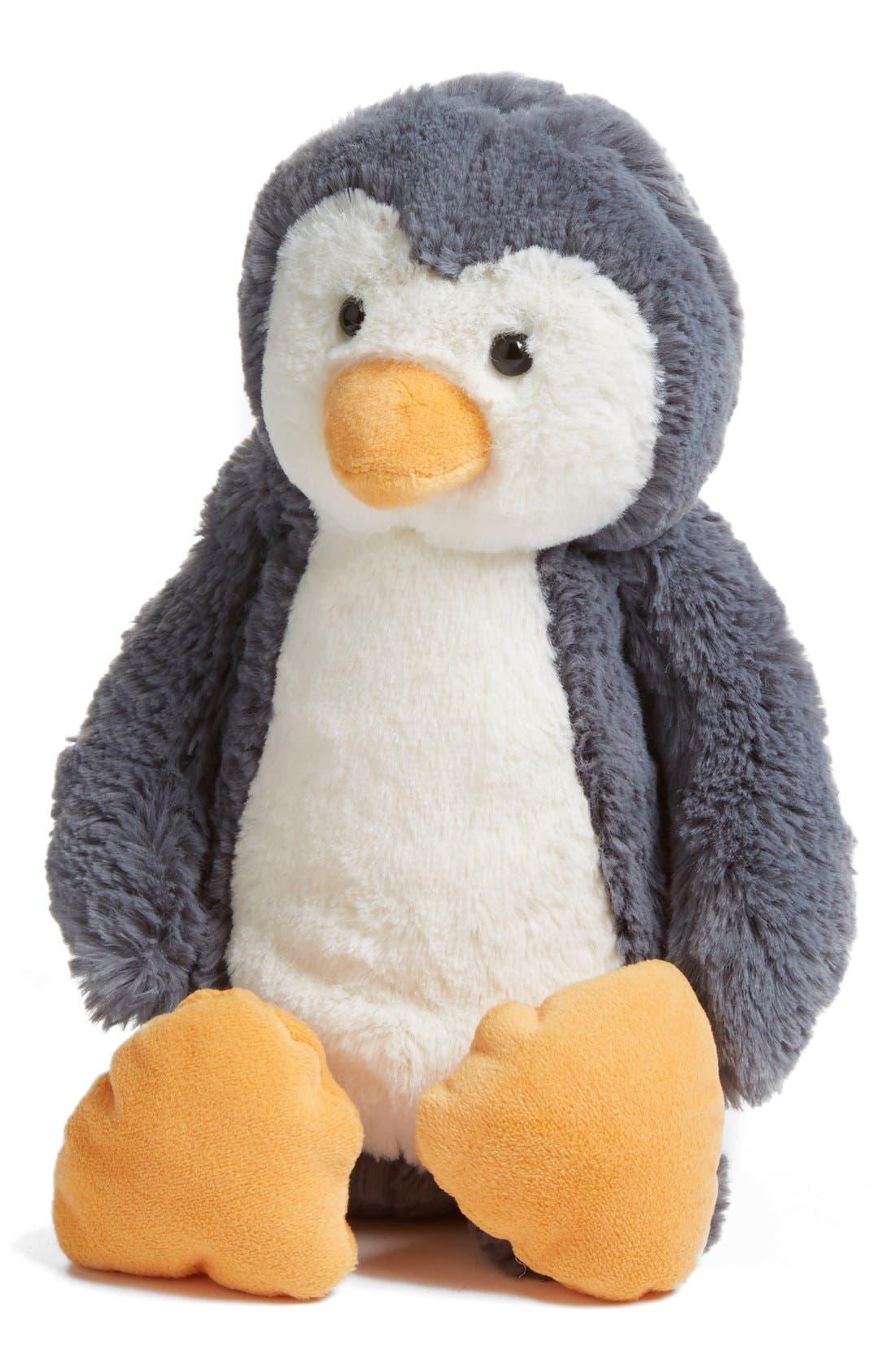 JELLYCAT 'Bashful Penguin' Stuffed Animal, Main, color, 020