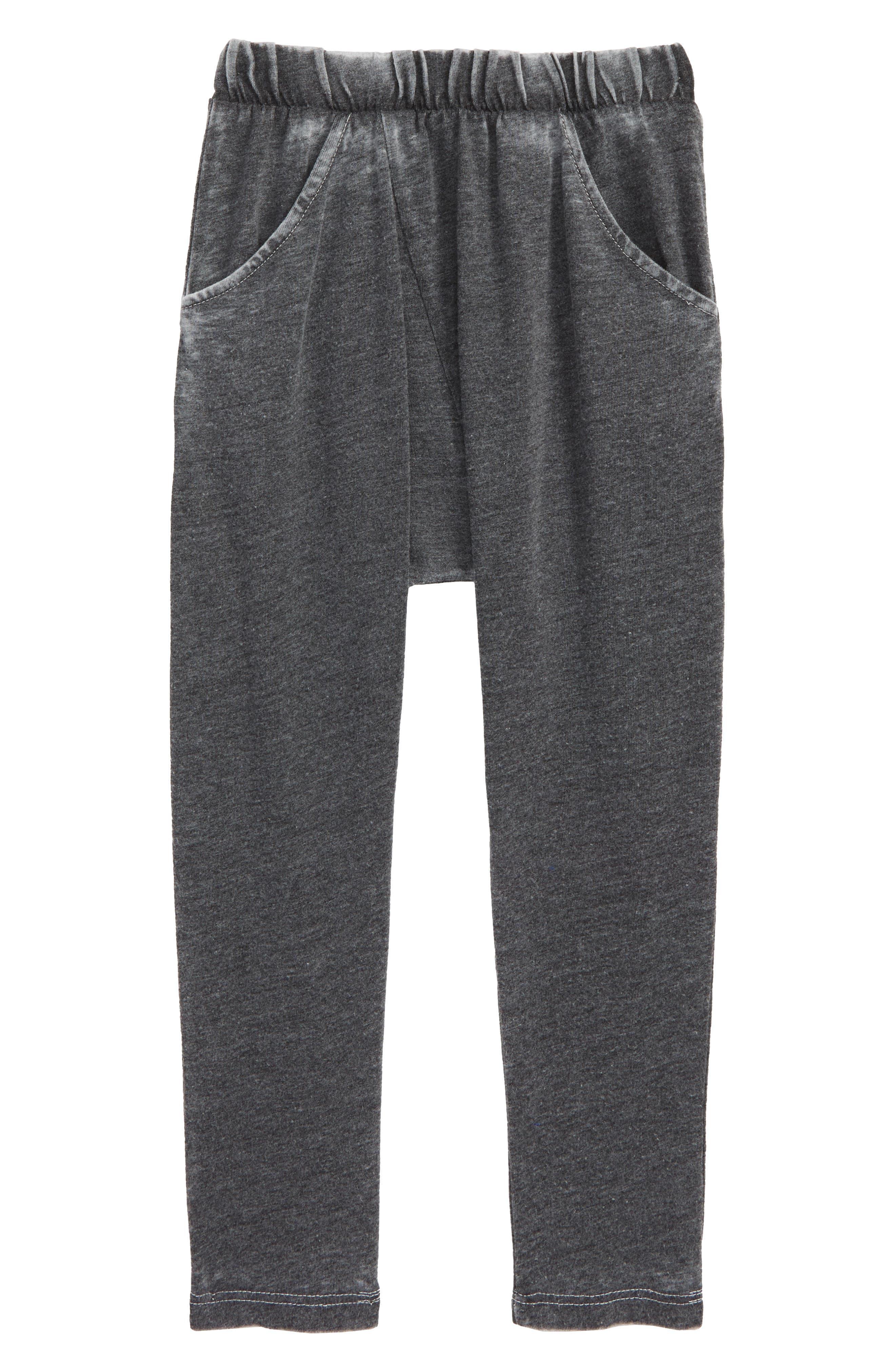 Burnout Harem Pants,                         Main,                         color, BLACK