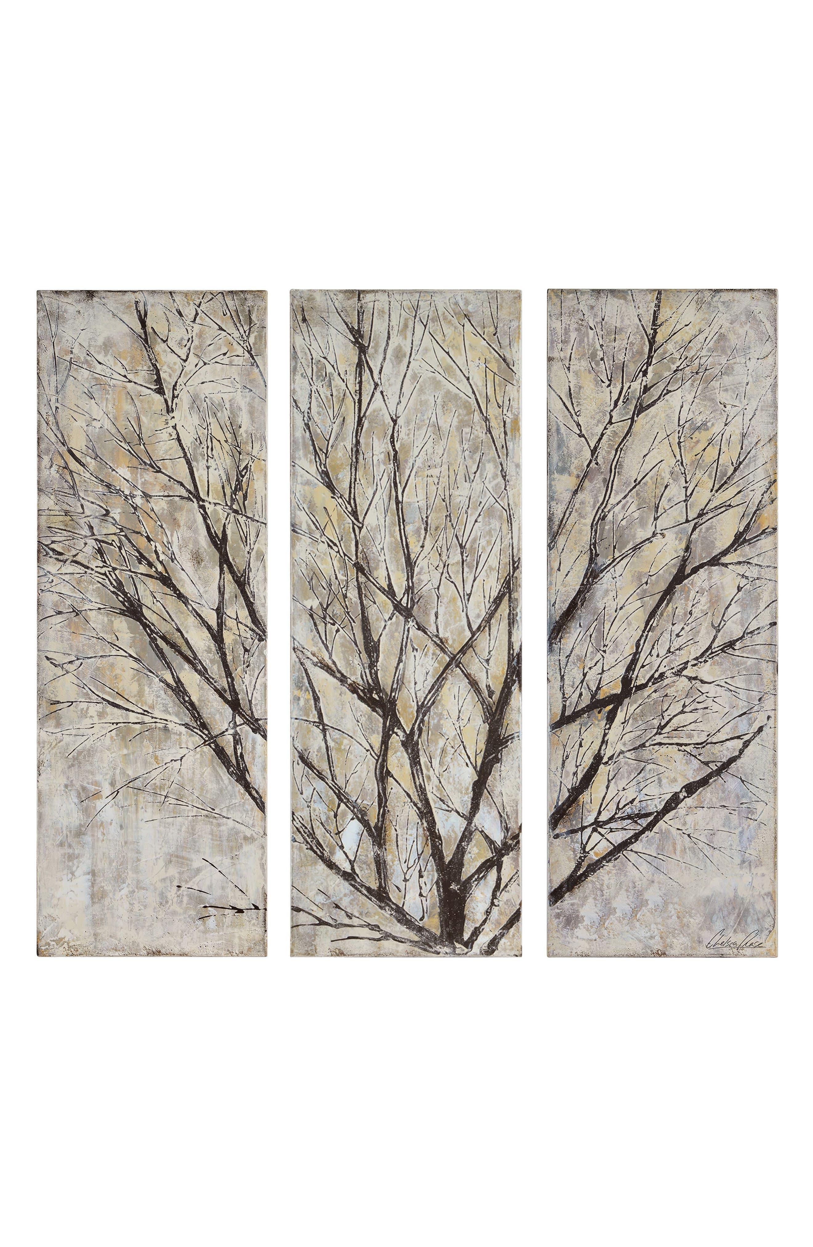 Spring Creek Three-Panel Canvas Wall Art,                             Main thumbnail 1, color,                             250