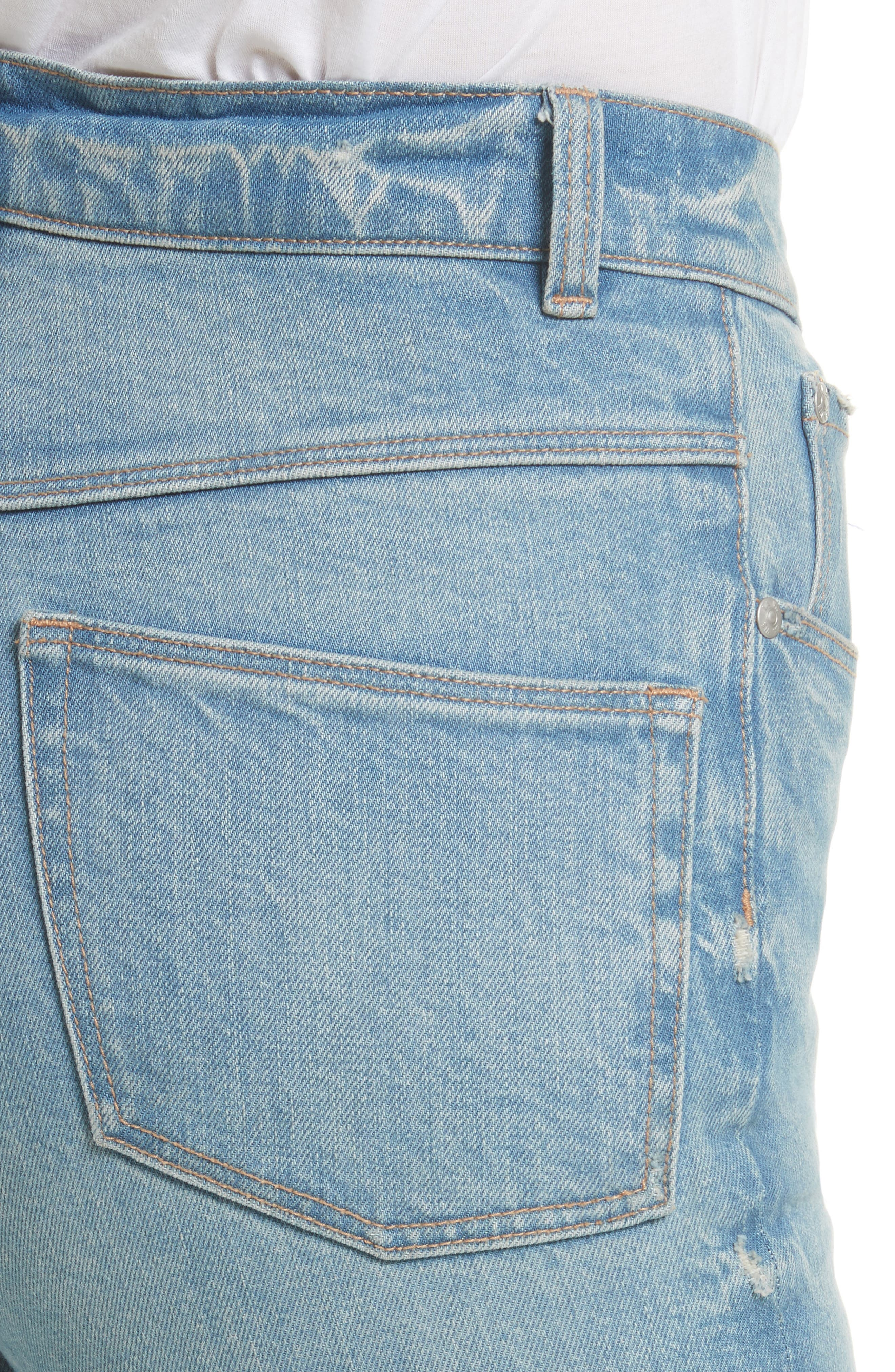 Ines High Waist Ankle Jeans,                             Alternate thumbnail 4, color,                             469
