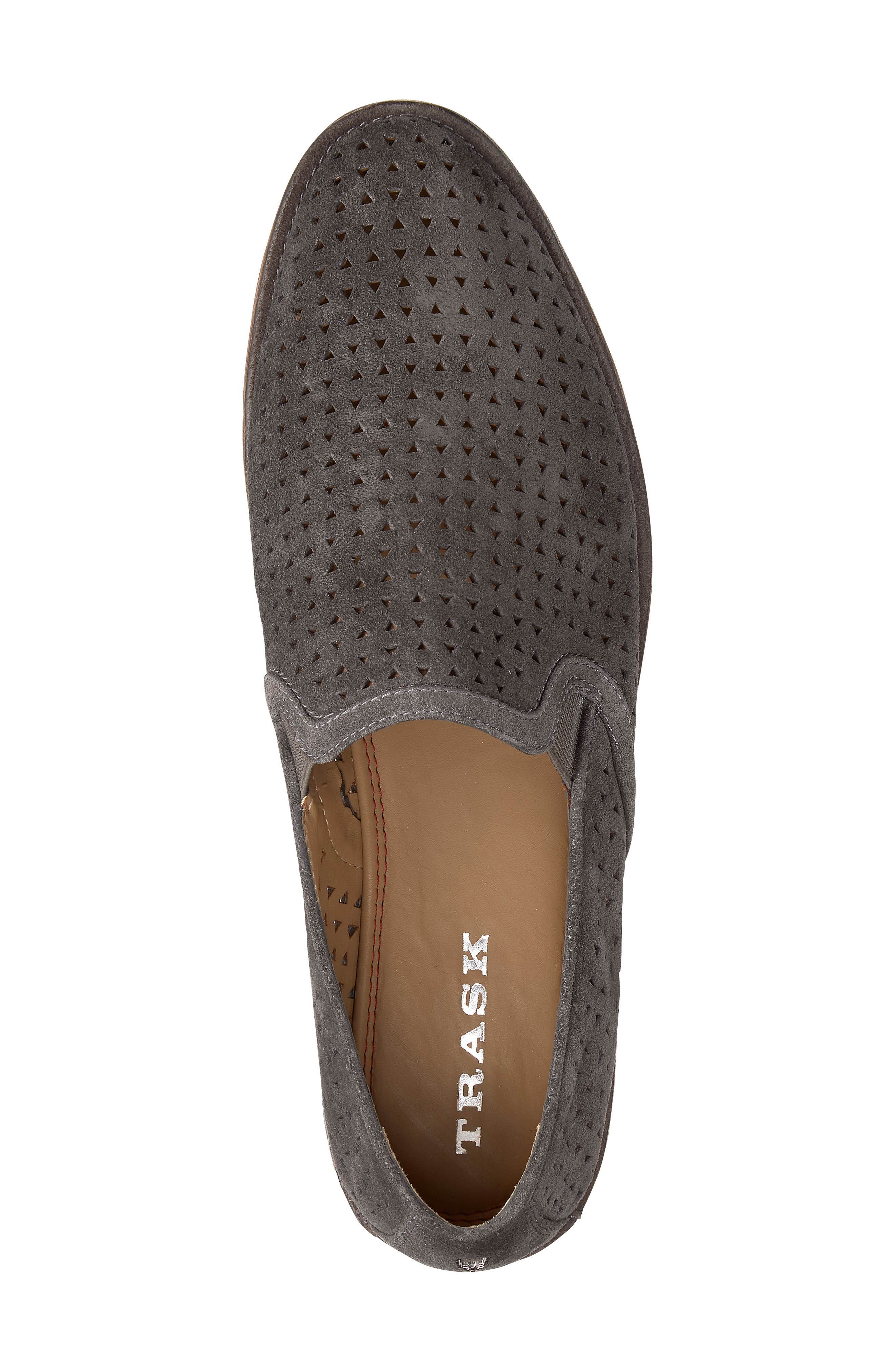 Ali Perforated Loafer,                             Alternate thumbnail 5, color,                             GREY SUEDE