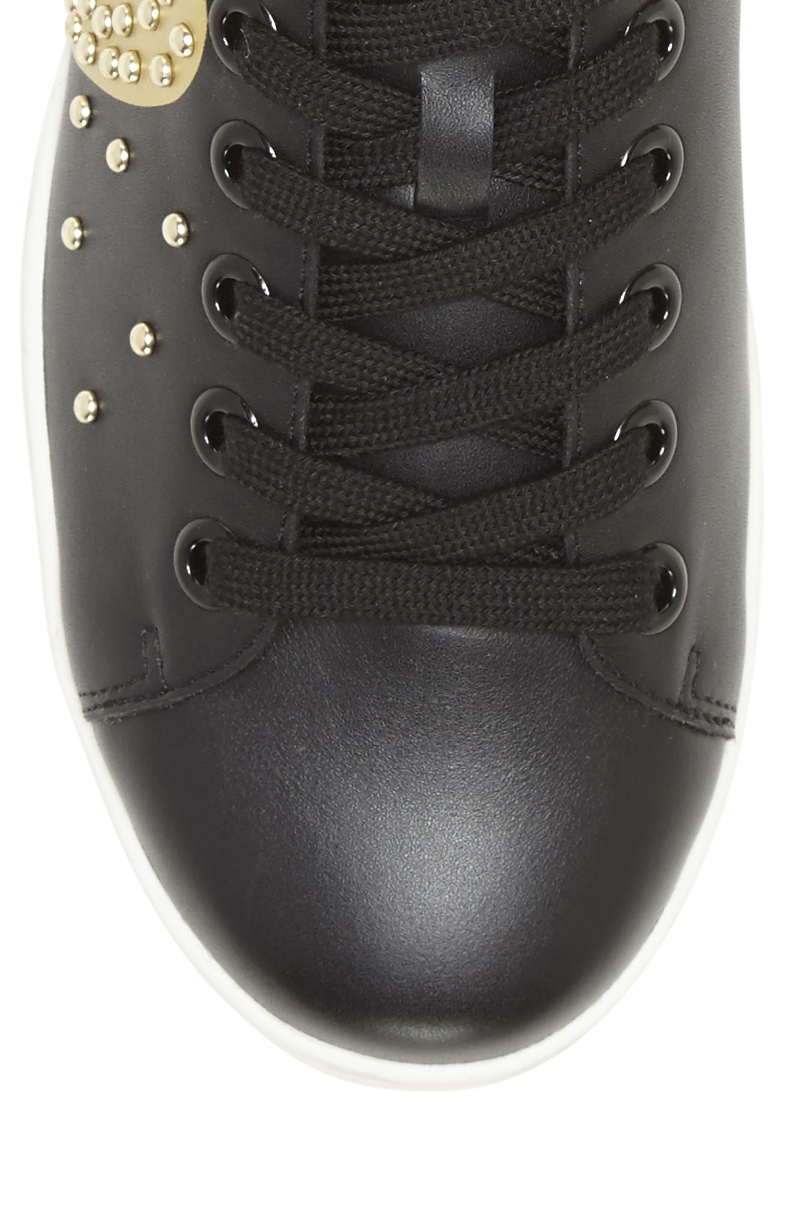Chamour Sneaker,                             Alternate thumbnail 7, color,                             BLACK/ GOLD LEATHER