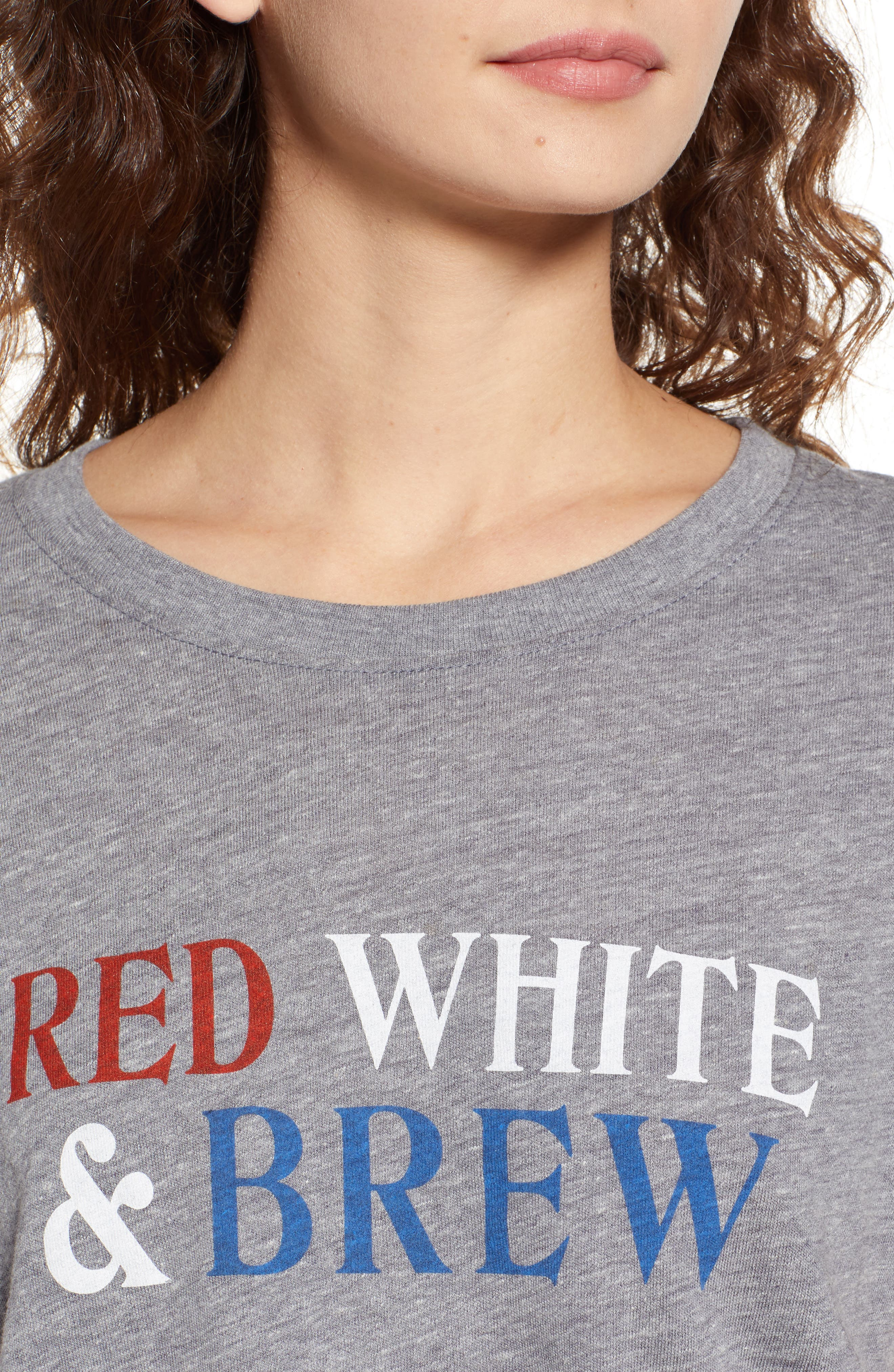 SUB_URBAN RIOT,                             Red, White & Brew Graphic Tee,                             Alternate thumbnail 4, color,                             020