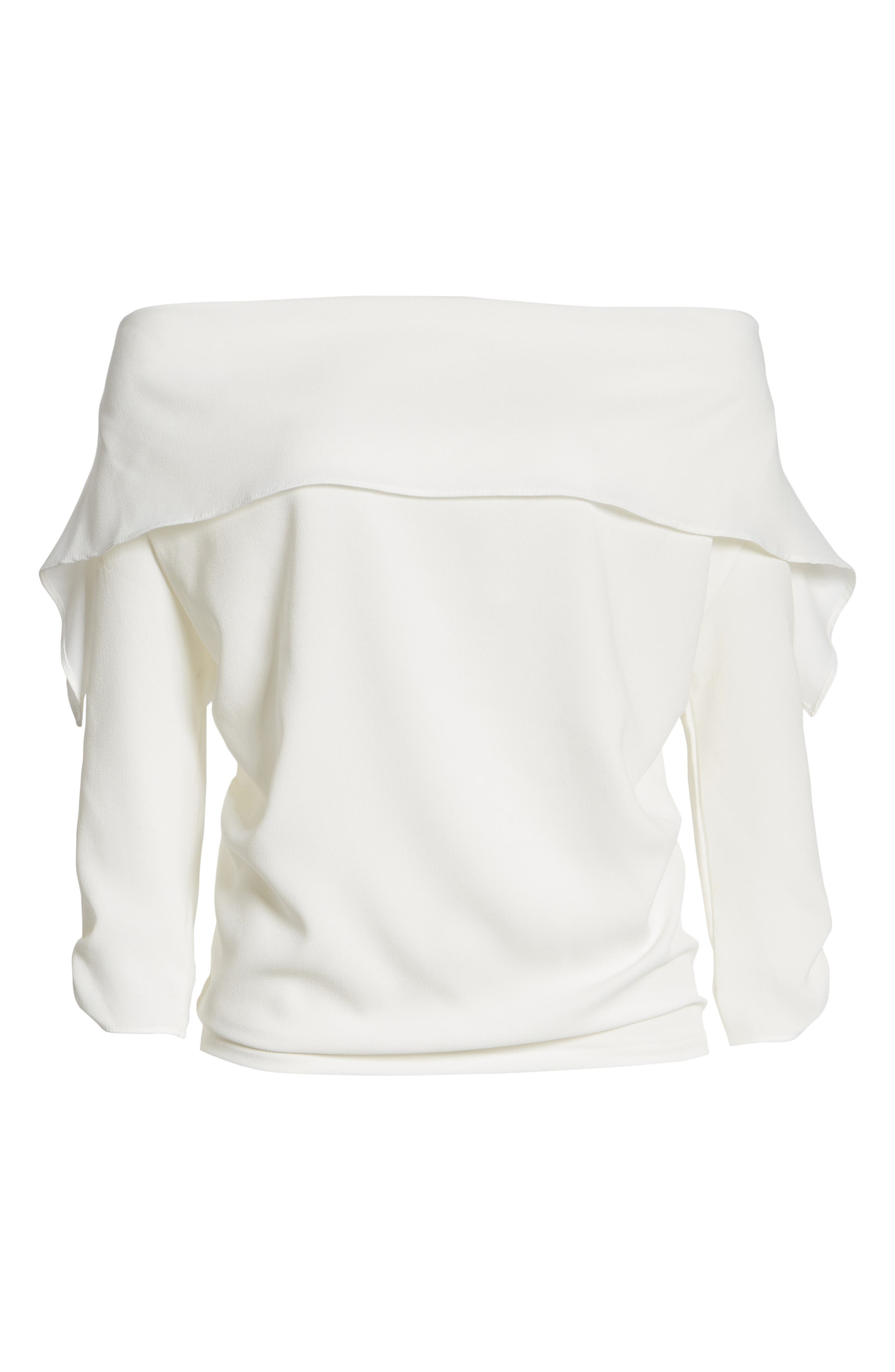 The Picture Perfect Off the Shoulder Blouse,                             Alternate thumbnail 12, color,