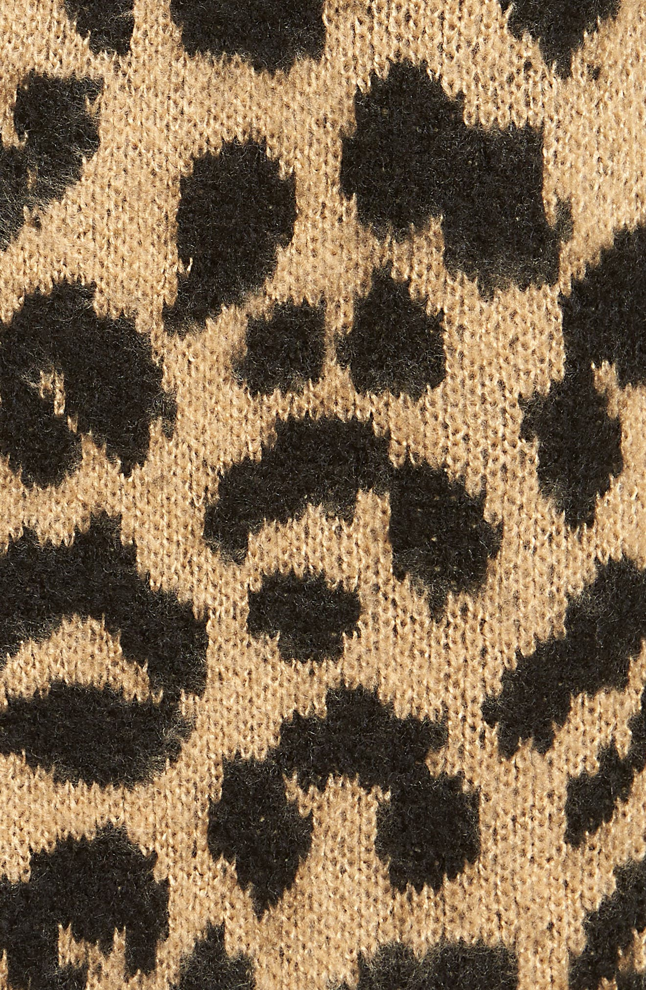 Long Leopard Jacquard Cardigan,                             Alternate thumbnail 5, color,                             260