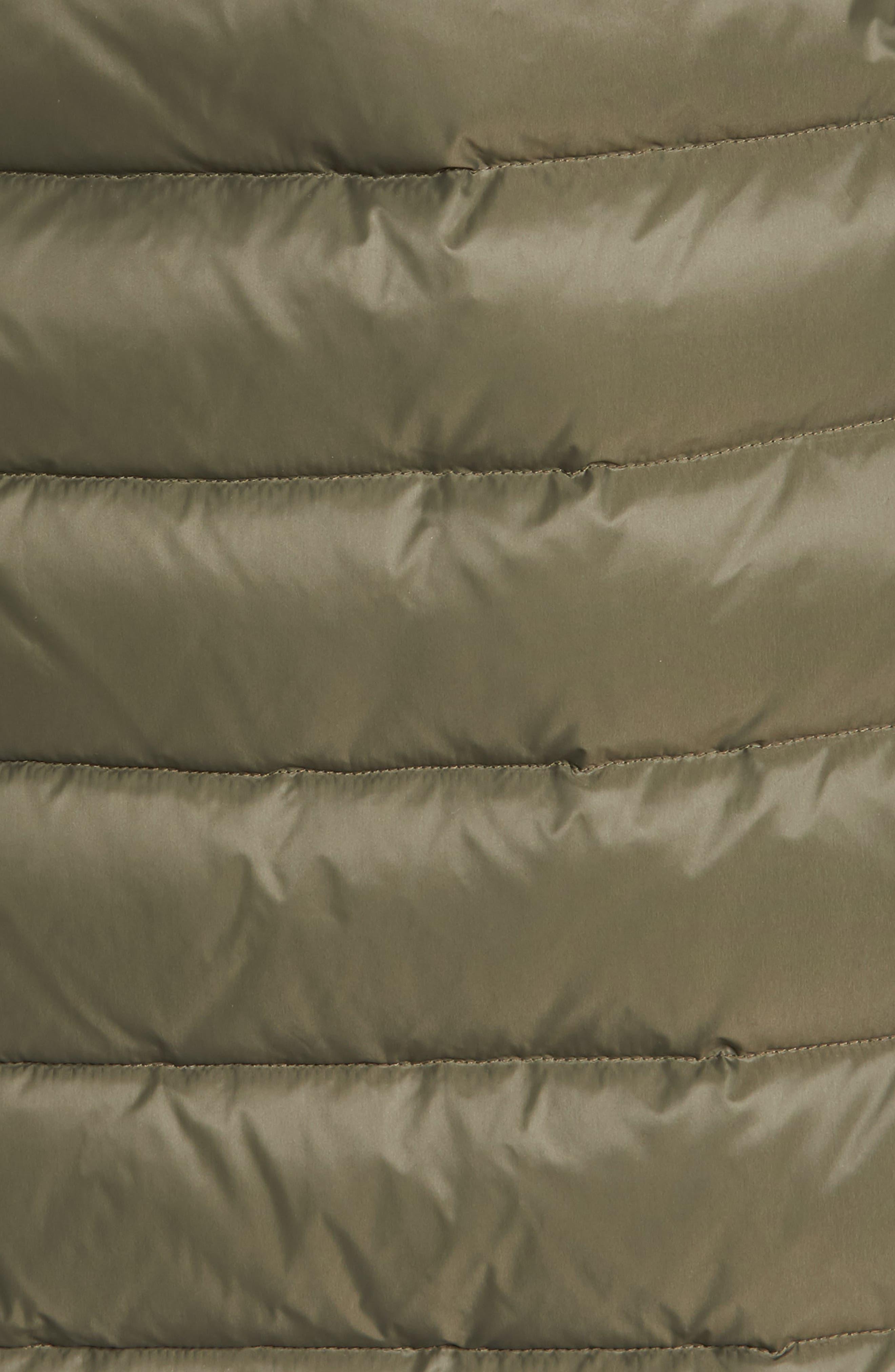 down puffer coat with faux fur trim,                             Alternate thumbnail 17, color,