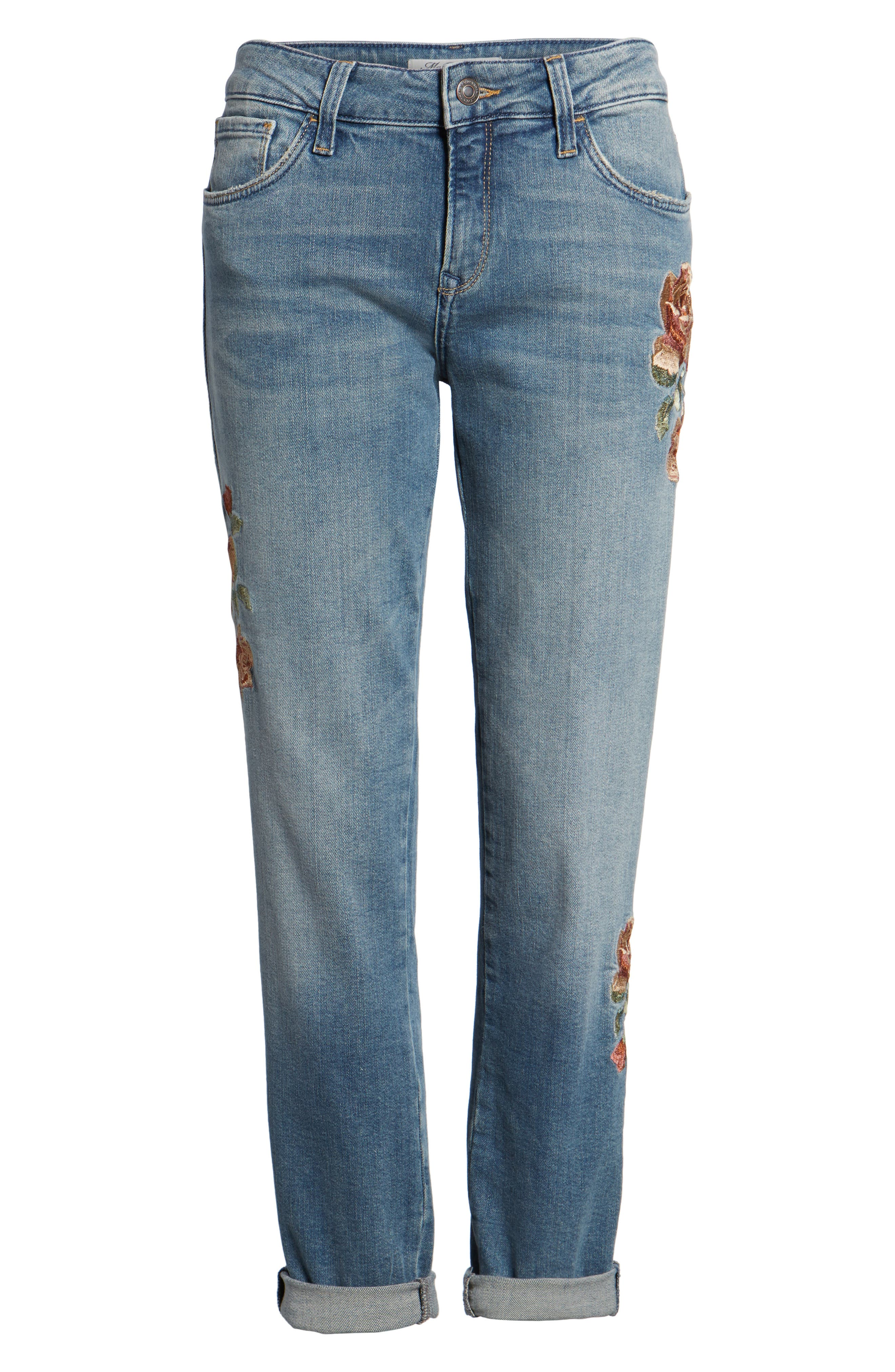 Ada Embroidered Boyfriend Jeans,                             Alternate thumbnail 6, color,                             420