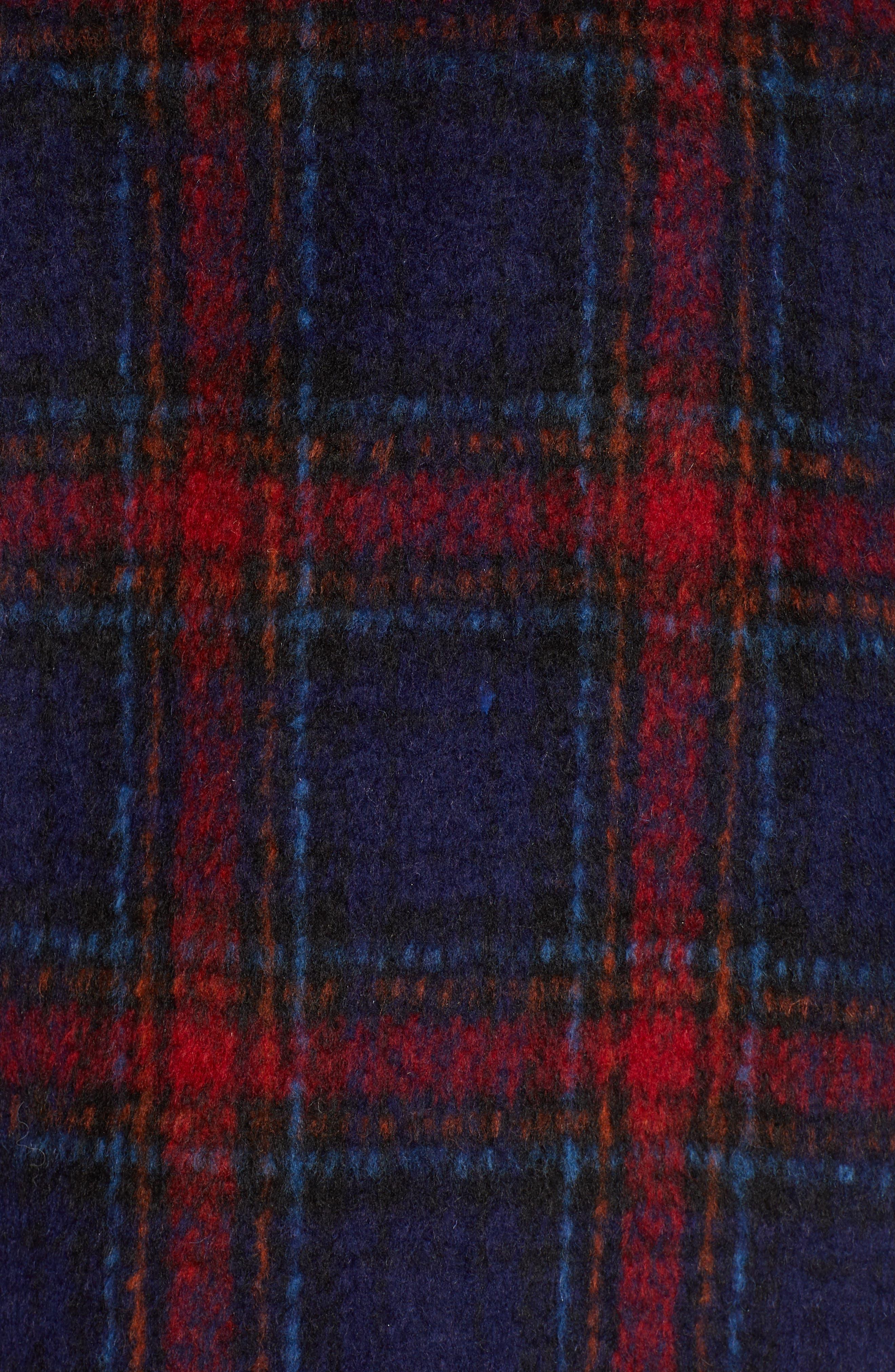 Plaid Wool Blend Jacket,                             Alternate thumbnail 7, color,                             MULTI