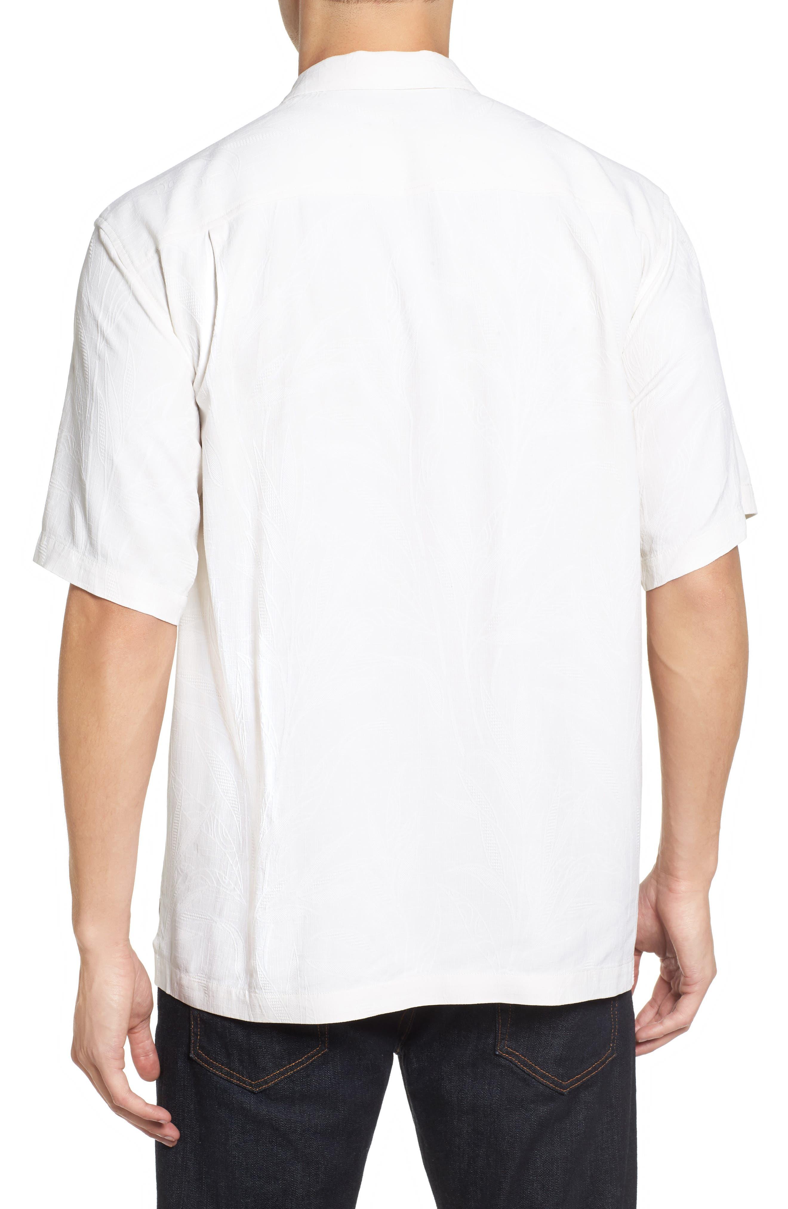 Islander Fronds Silk Camp Shirt,                             Alternate thumbnail 12, color,