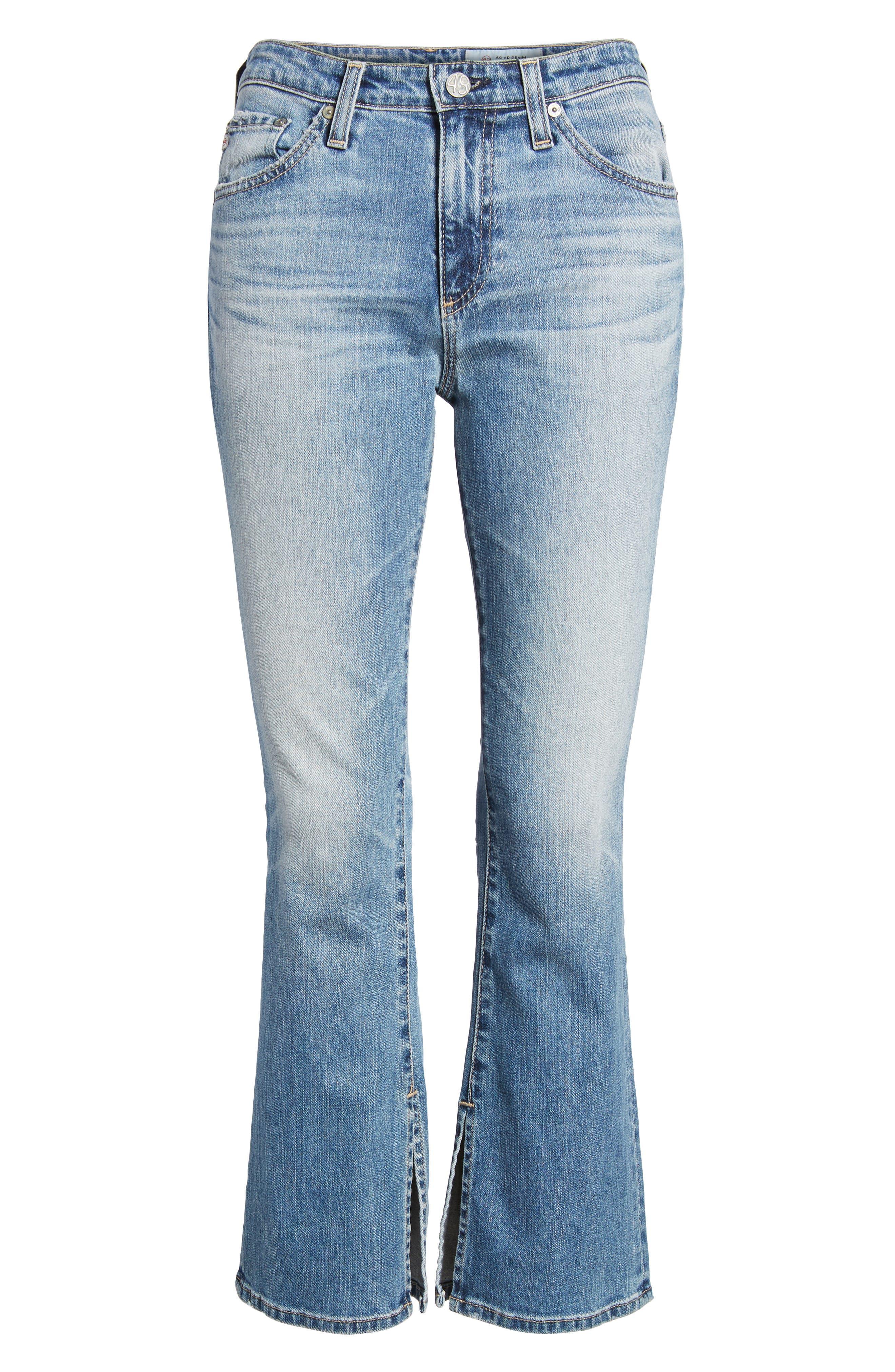 Jodi Crop Flare Jeans,                             Alternate thumbnail 7, color,