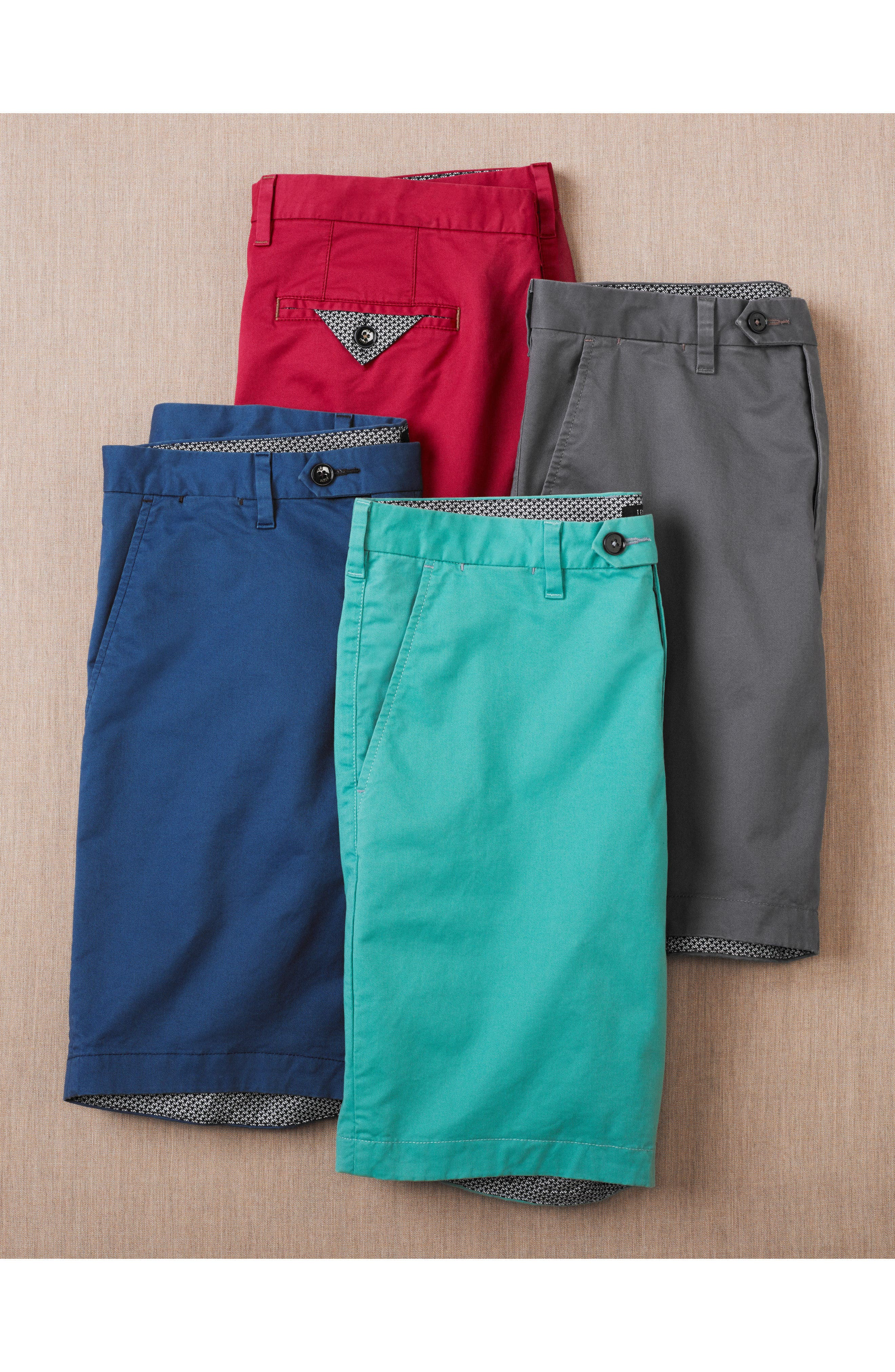Proshor Slim Fit Chino Shorts,                             Alternate thumbnail 7, color,                             050