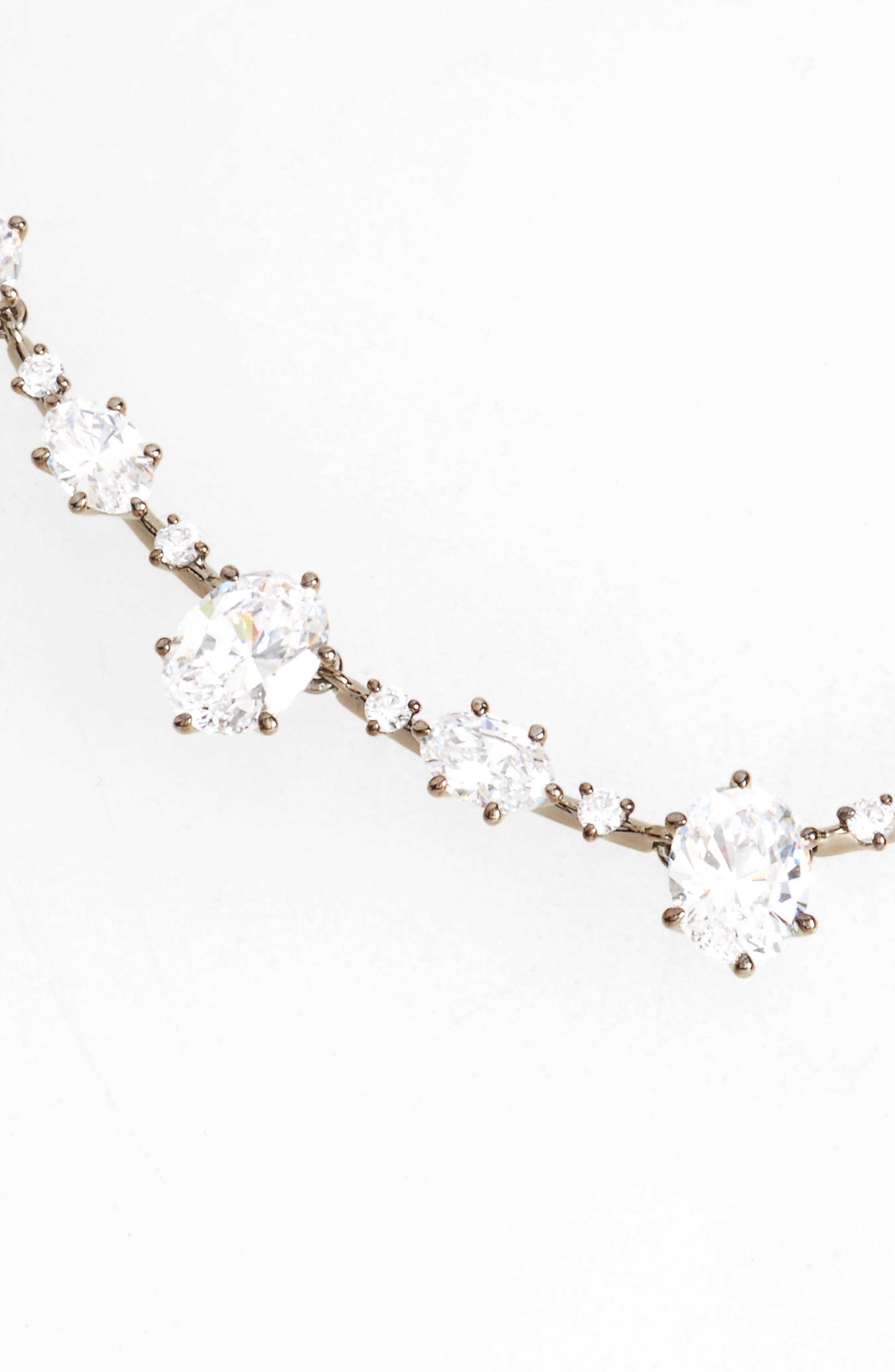 Royale Cubic Zirconia Collar Necklace,                             Main thumbnail 1, color,                             001