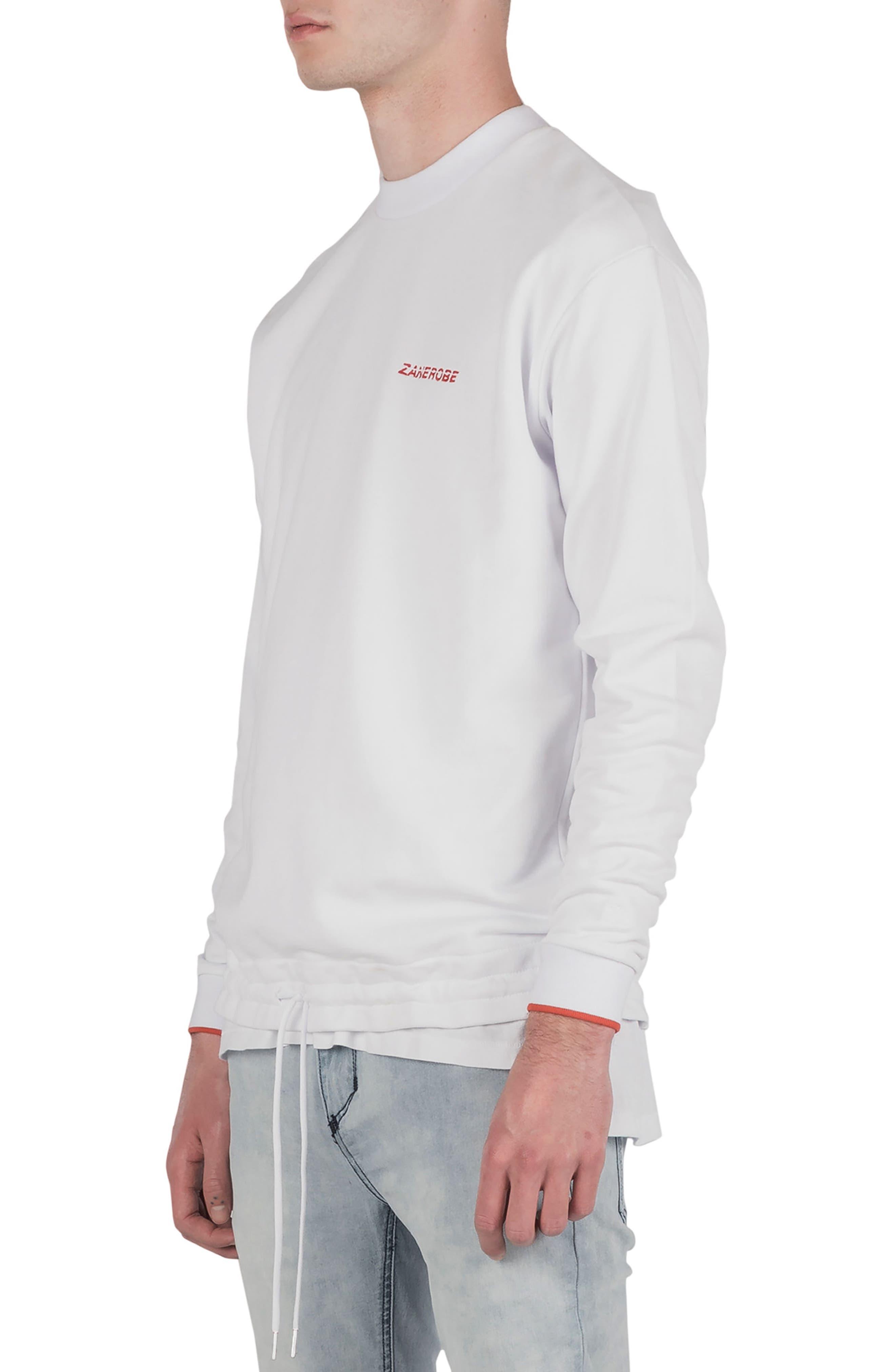 League Boxy Sweatshirt,                             Alternate thumbnail 5, color,                             WHITE