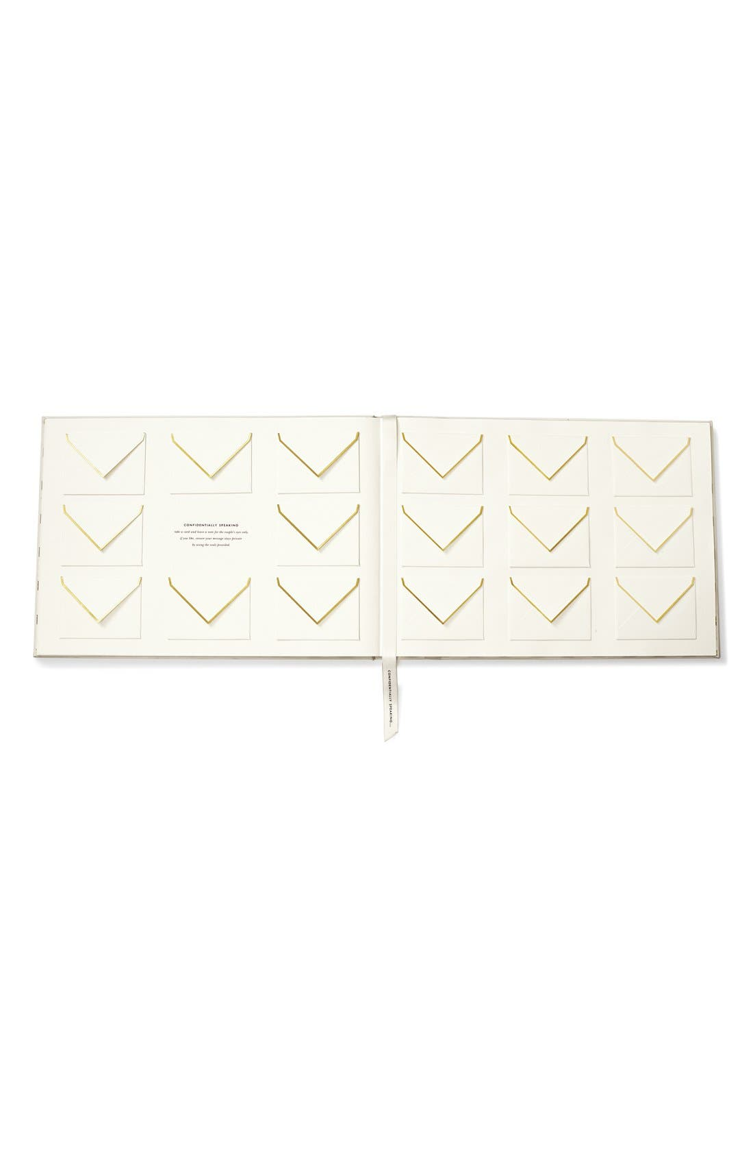 KATE SPADE NEW YORK,                             'notes to the bride & groom' guest book,                             Alternate thumbnail 4, color,                             100