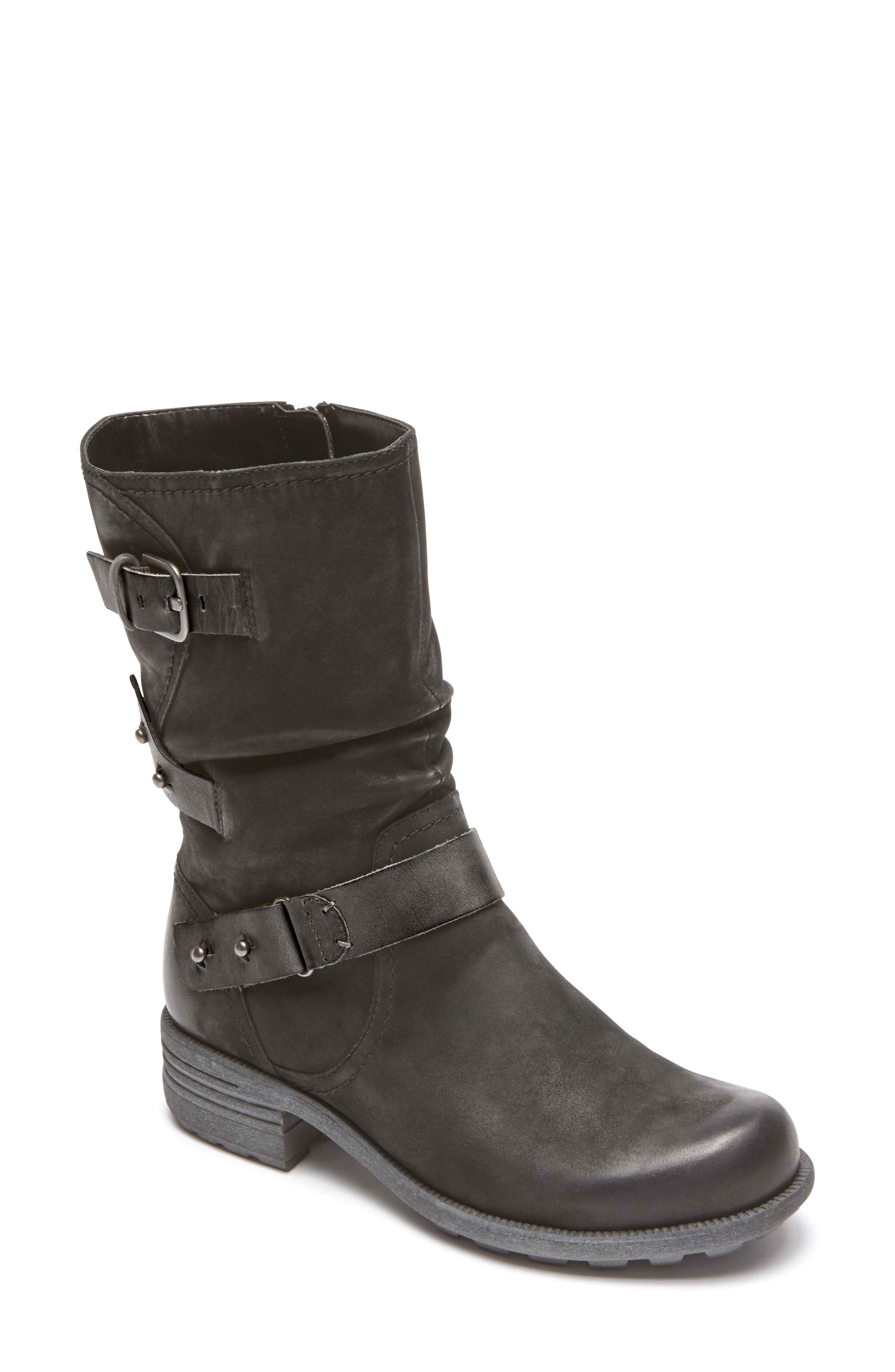 Brunswick Boot,                         Main,                         color, BLACK LEATHER