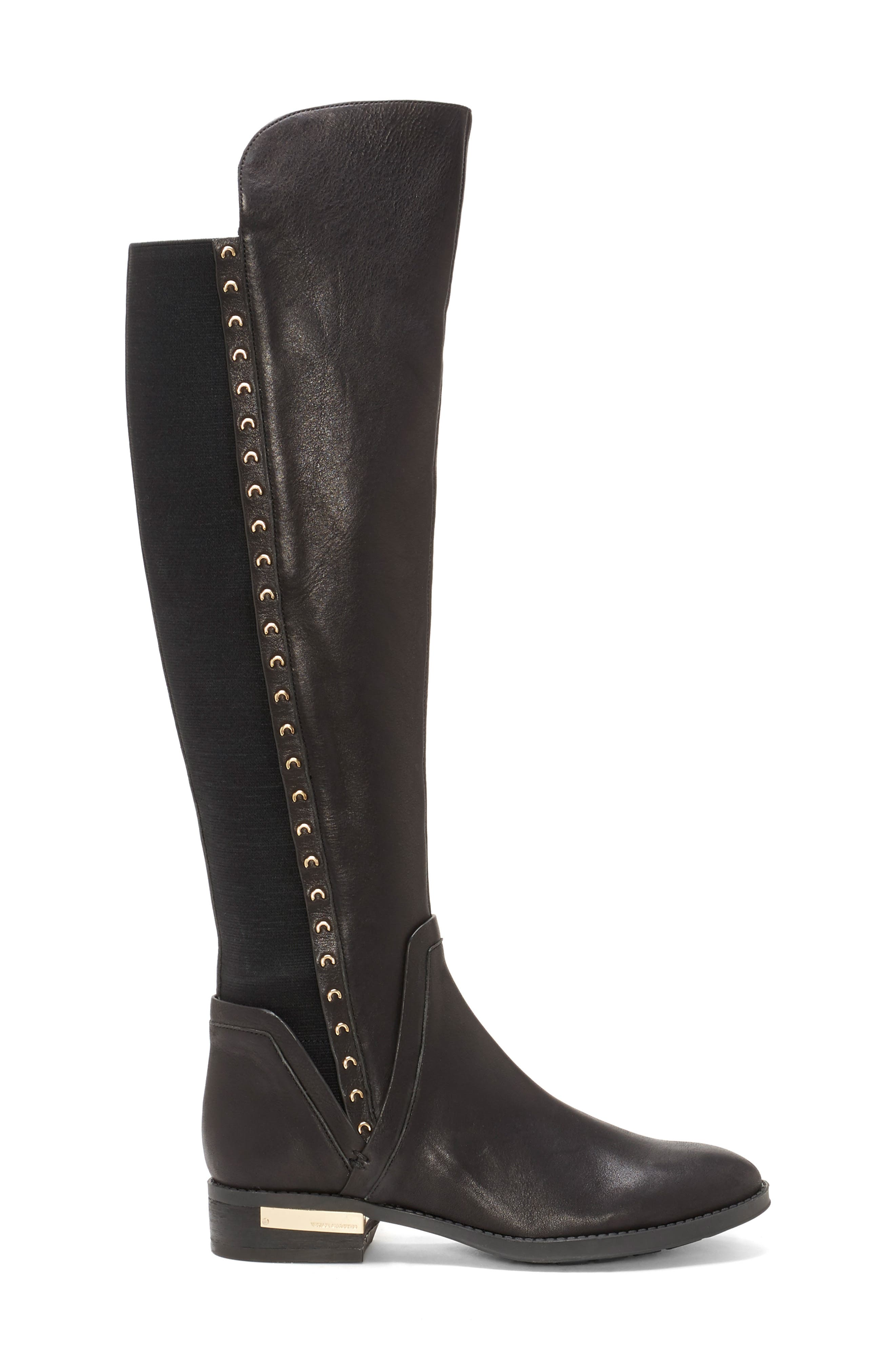 Pardonal Over-the-Knee Boot,                             Alternate thumbnail 3, color,                             BLACK LEATHER
