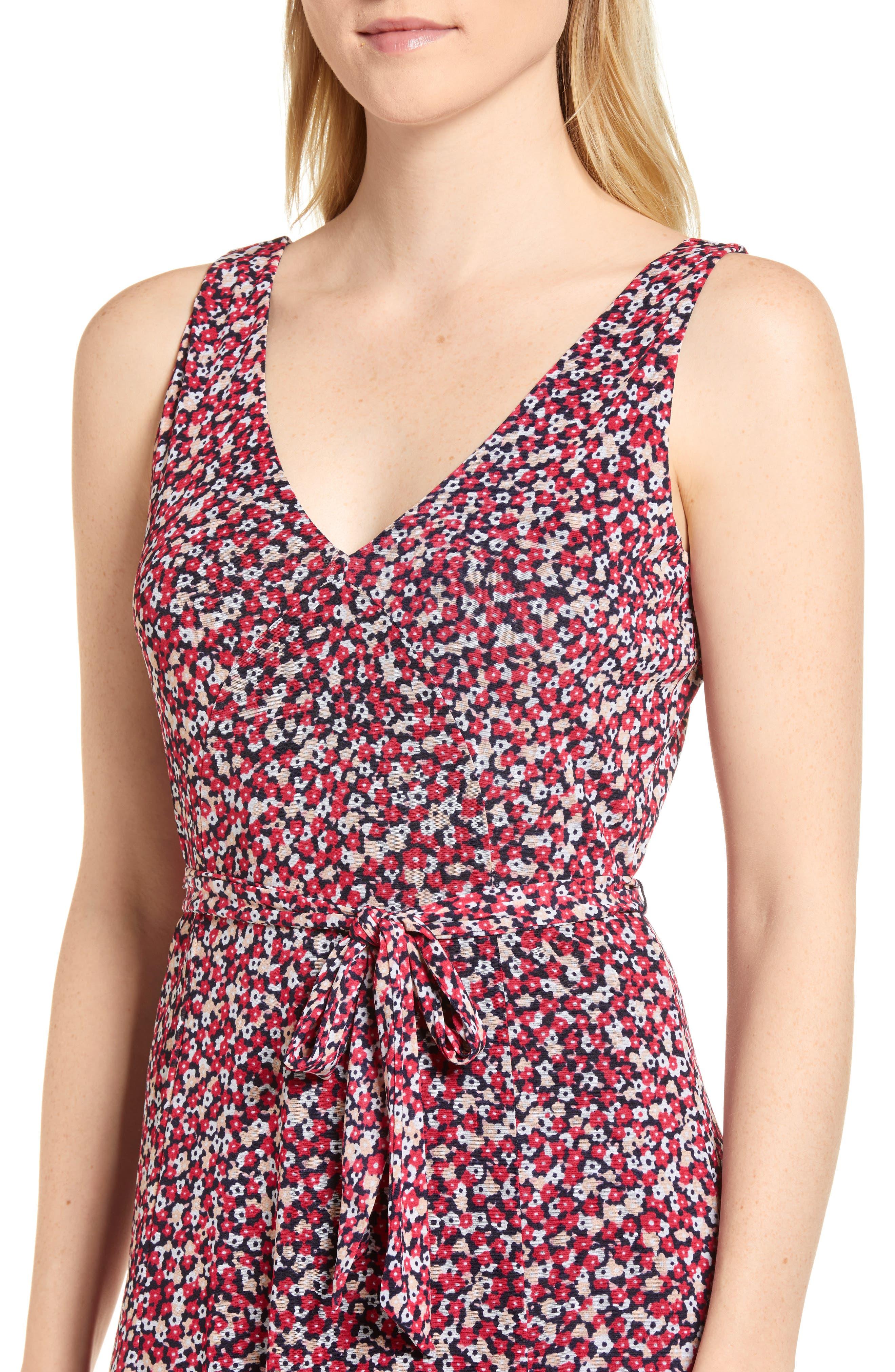 Floral Tank Dress,                             Alternate thumbnail 4, color,                             678