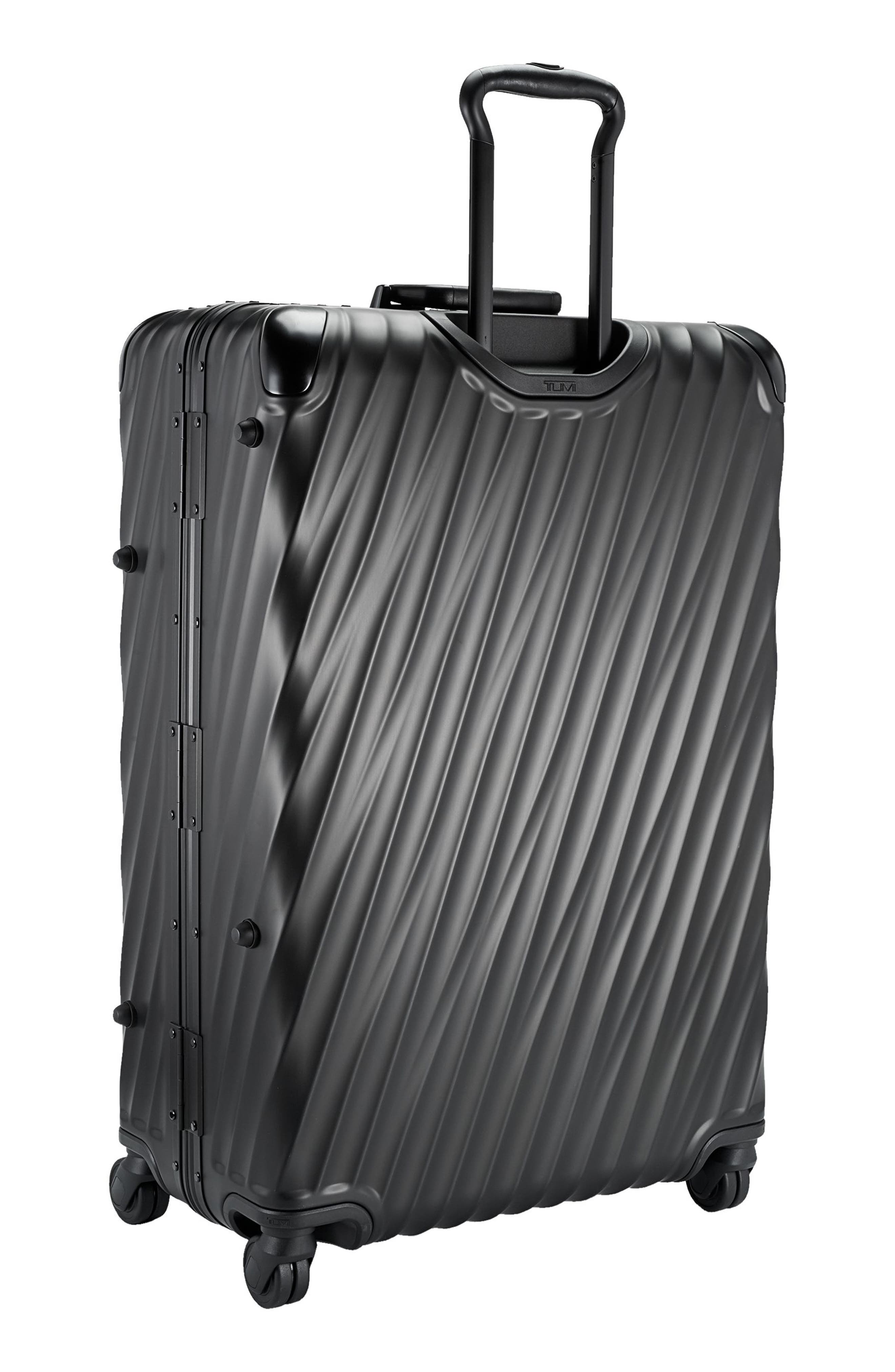 19 Degree 31-Inch Extended Trip Wheeled Aluminum Packing Case,                             Alternate thumbnail 4, color,                             MATTE BLACK