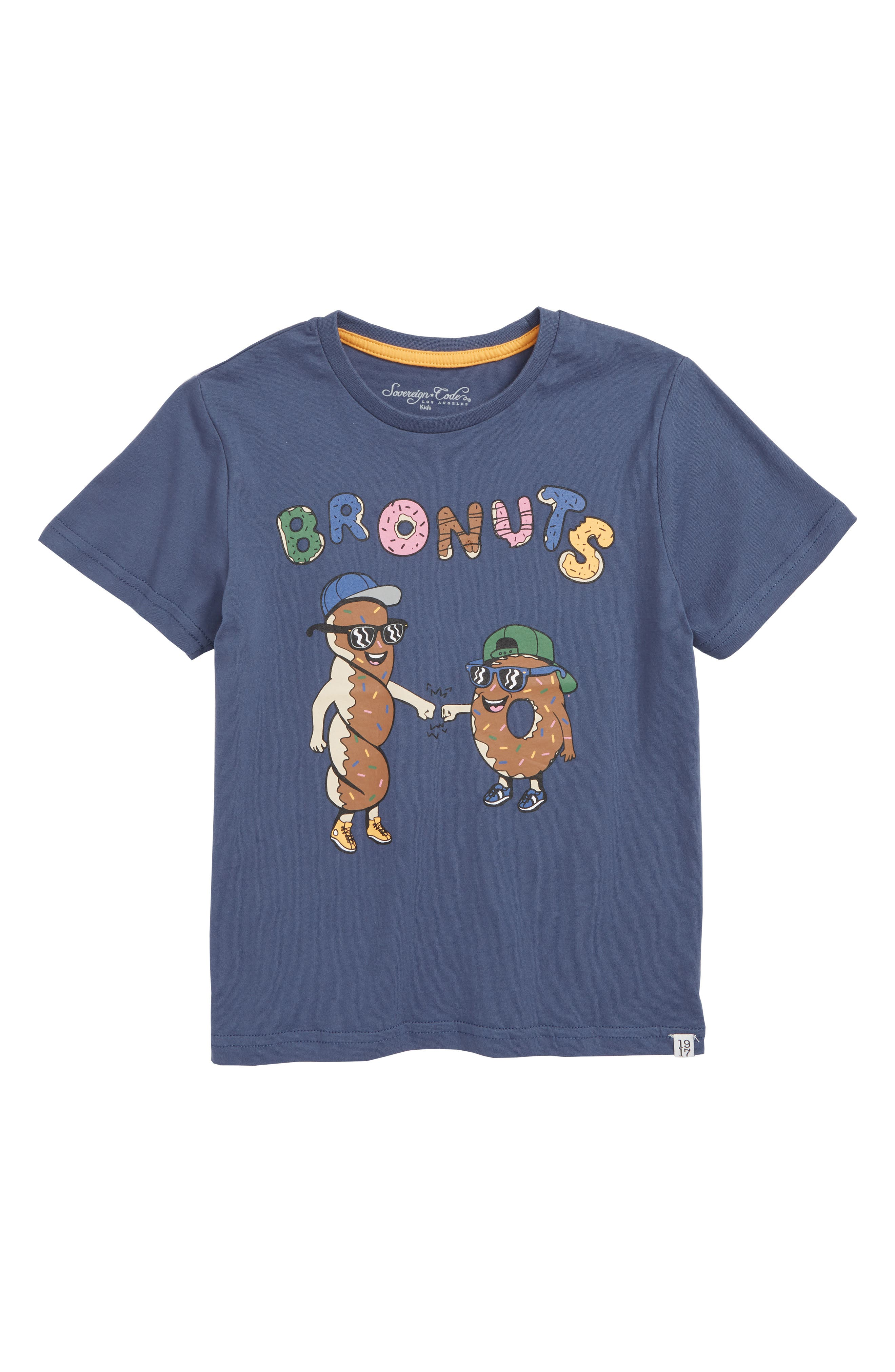 Rome Bronuts Graphic T-Shirt,                             Main thumbnail 1, color,                             SLATE