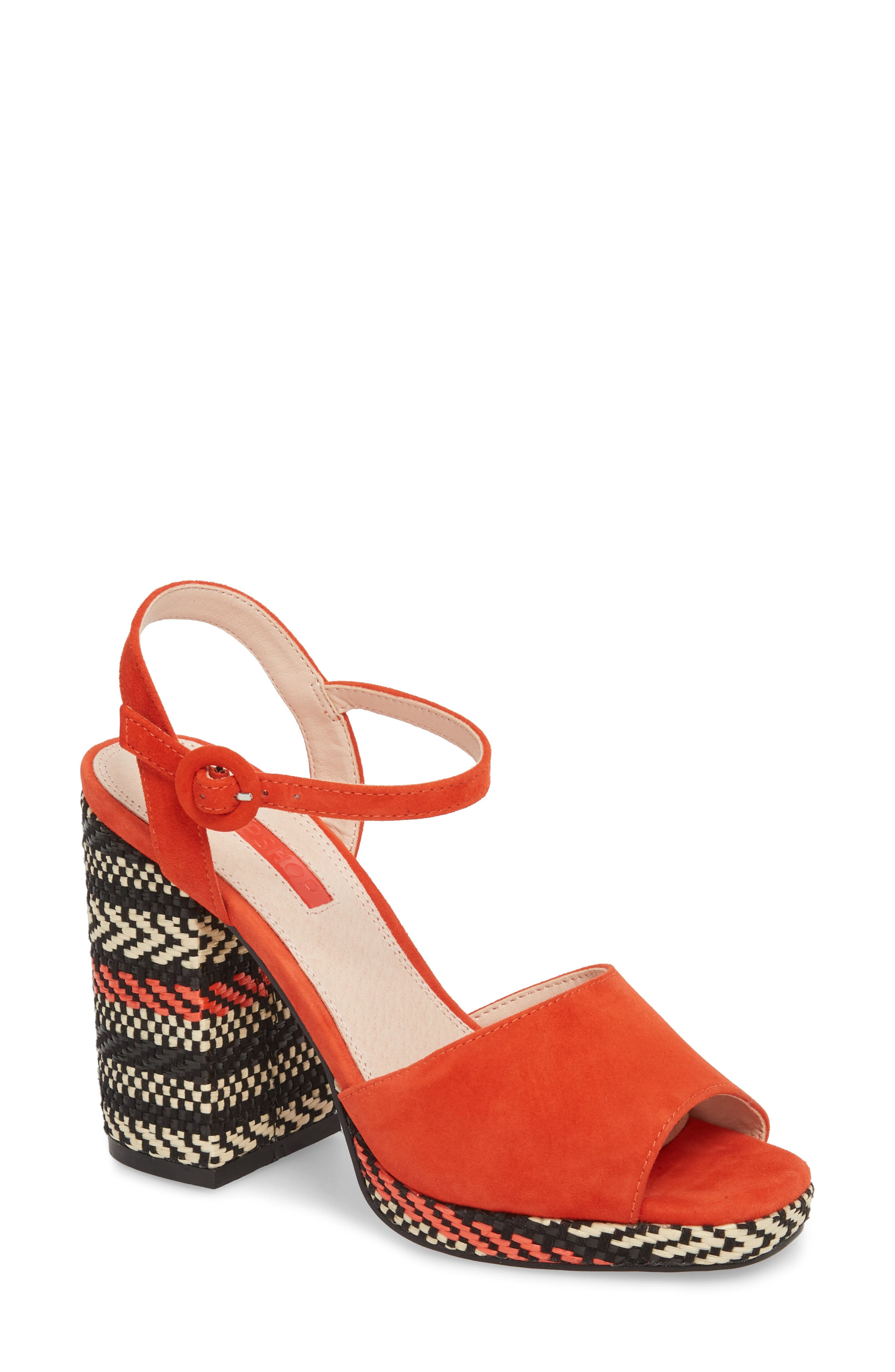 Laura Woven Block Heel Sandal,                             Main thumbnail 2, color,
